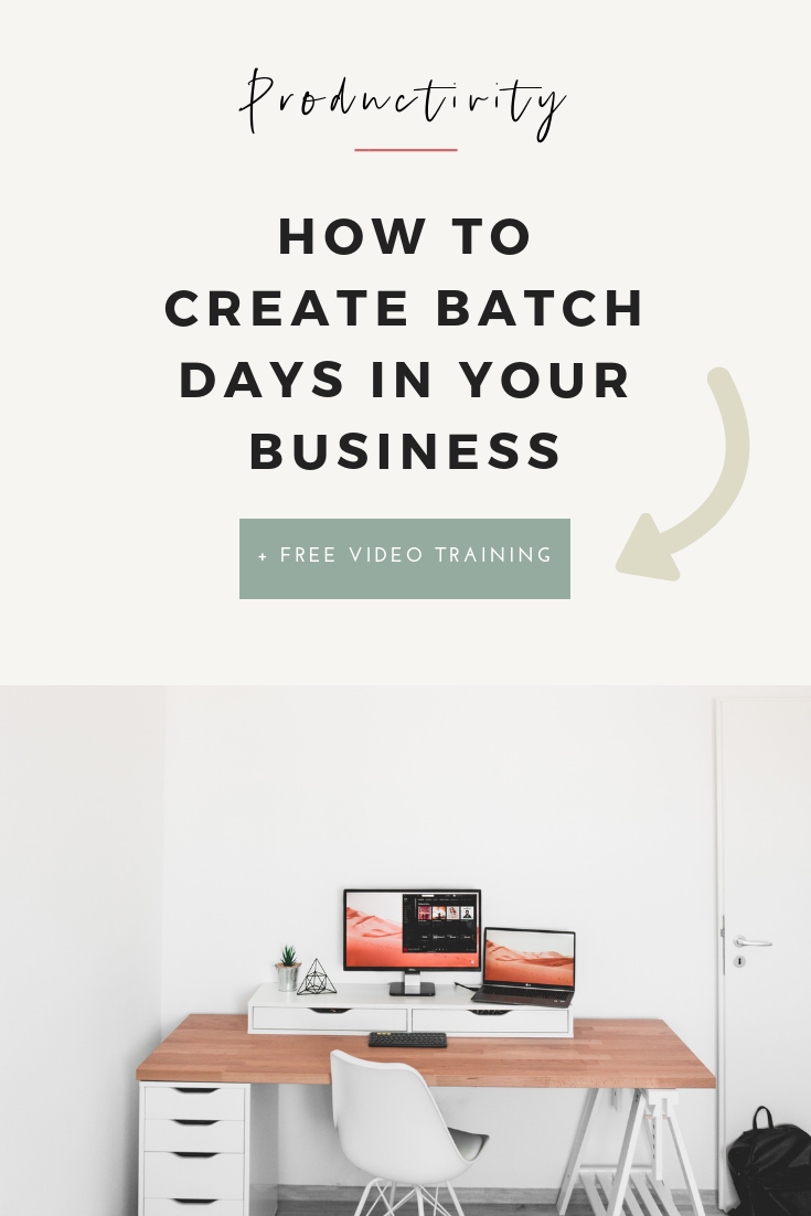 How to create batch days for your business to increase productivity by With Hannah murphy