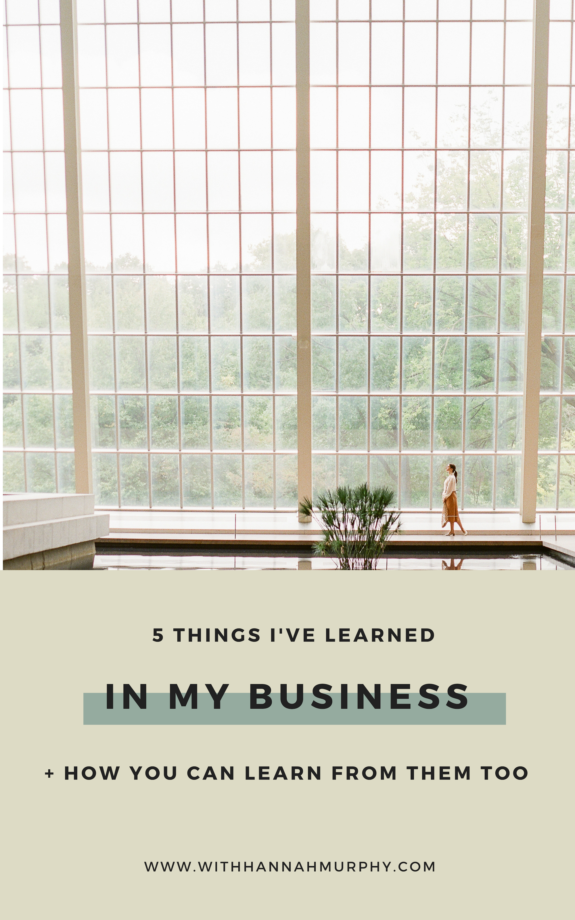 5 lessons I've learnt in my business so far | With Hannah Murphy #businesstips