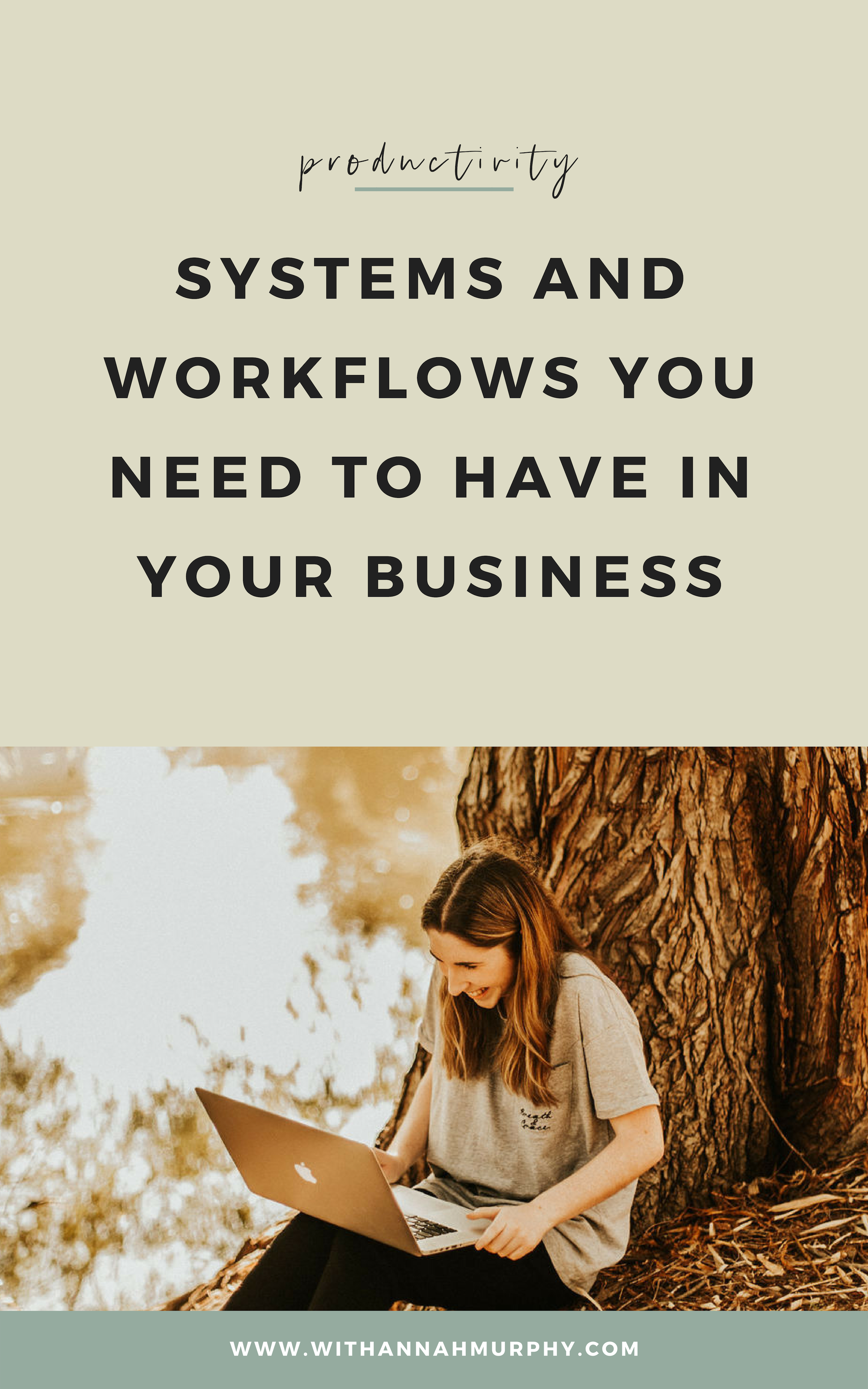 Systems and workflows you need to have in your business | With Hannah Murphy #creativeresources #businesstips #systems