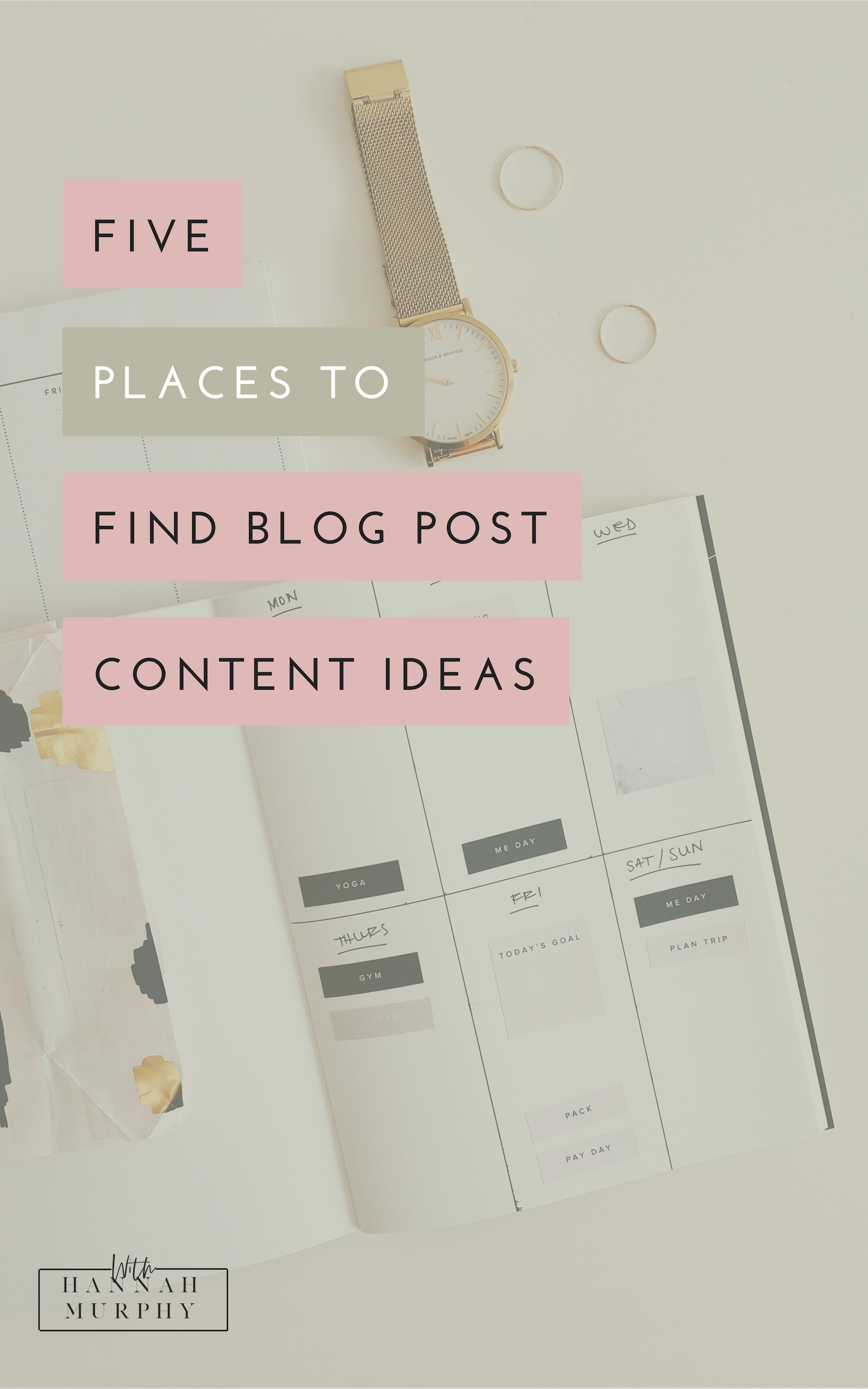 Struggling to come up with ideas for your blog posts? This blog gives you 5 places I go to for generating content ideas