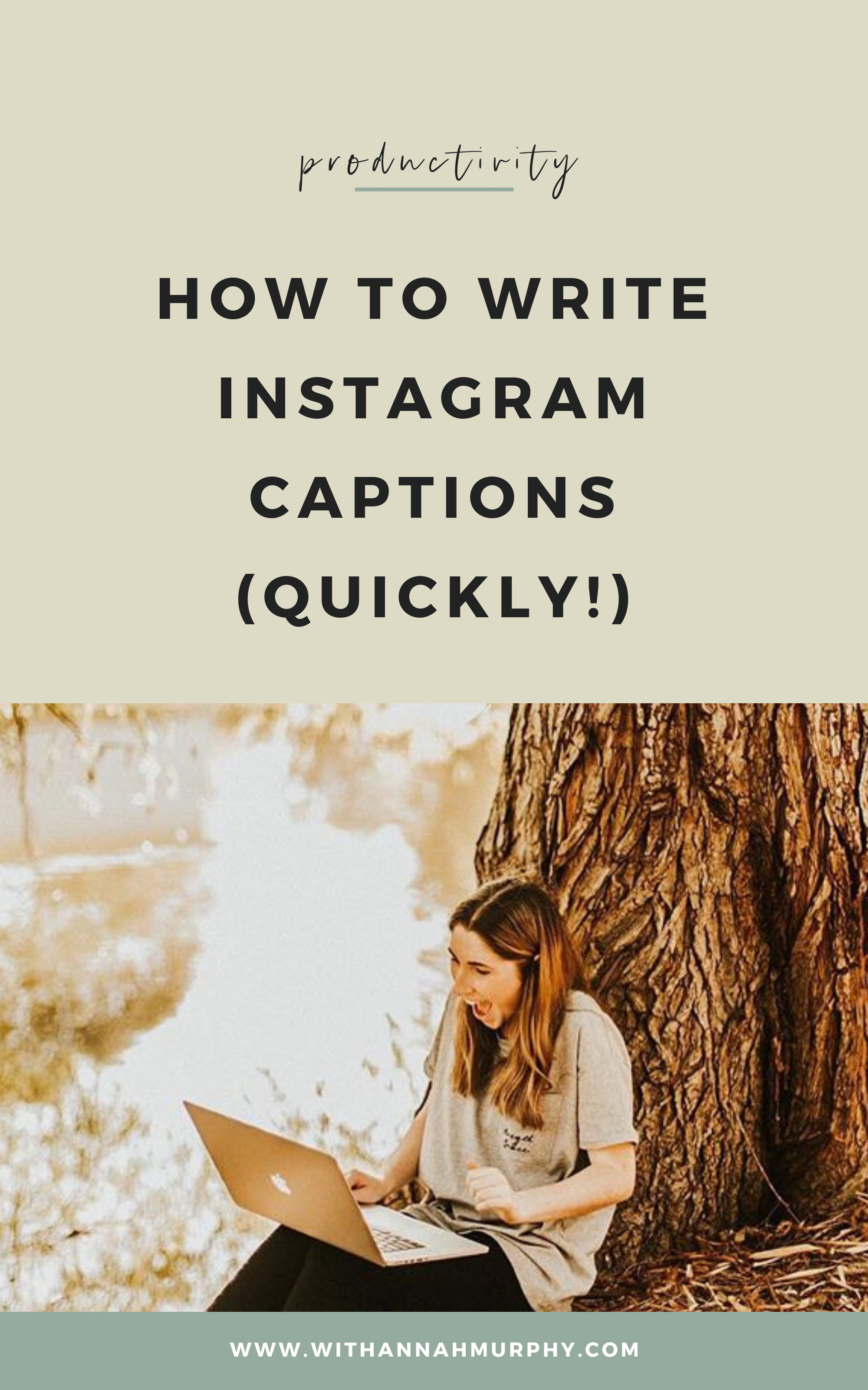 Writing Instagram captions can be time consuming. These 3 tips have helped me dramatically improve my efficiency in writing Instagram captions