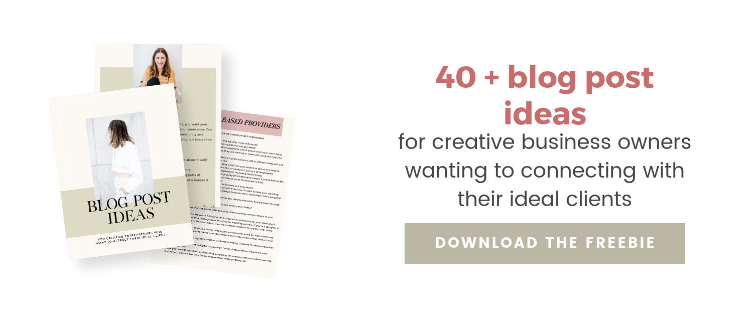blog post ideas freebie