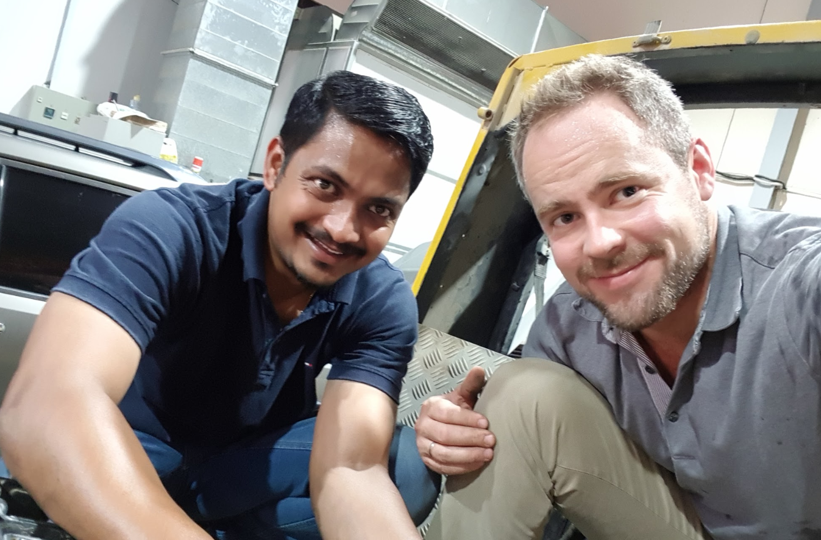 With help from the amazing team at the garage, we managed to get these important first steps of the project off to a good start. A big thank you to Peter and the whole team at Butterfly Cars Care, Abu Dhabi!