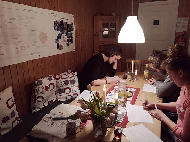Last Saturday's workshop in a cabin #koselig #friluftsliv #servicedesign