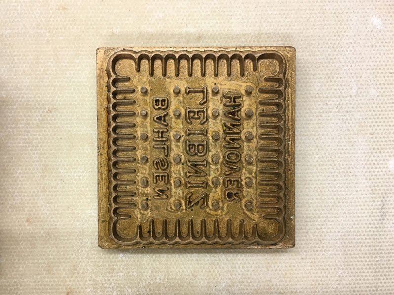 Beautifully crafted brass moulds for biscuit manufacturing.