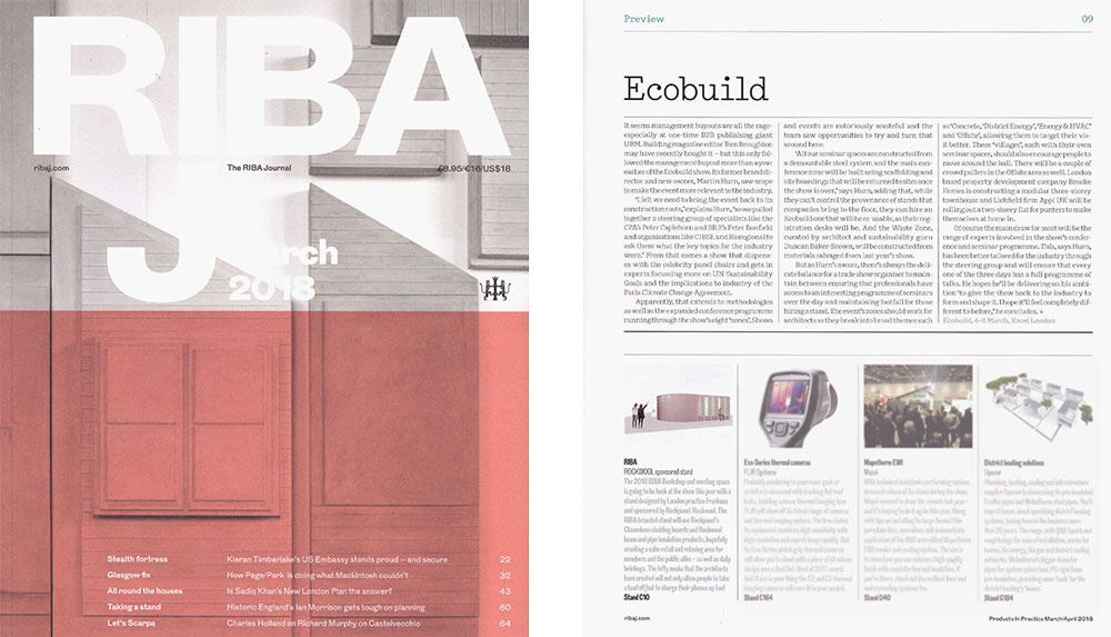 Get your RIBAJ and check the feature on the RIBA Bookshop and Meeting Space.