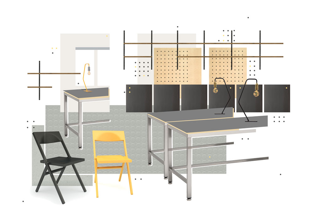 Office space visualisation.