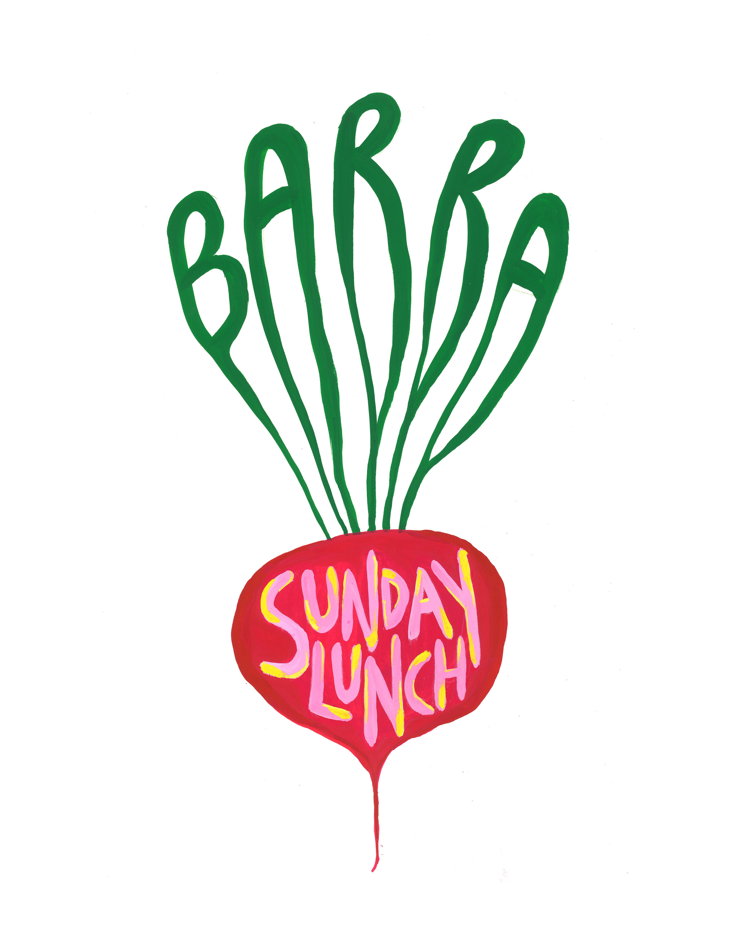 ROUND II - It was so much fun last time, we had to do it again!Sunday 26th May we'll have Spring luncheon spread! Fizz, Mags & Bloody Marys!Kitchen 12:30 - 17:00--*Starters to share between the tableMains & Dessert individual portions*White Asparagus & Sauce GribicheTomatoes, Tropea Onion & LovageRadishes & AnchovyMutton, Peas & Dauphinoise PotatoesorNew Potato & Raclette TartTreacle Tart & Goats Milk Ice Cream38€ per personAdditional: Oysters & Cheese!---Reservations: reservations@barraberlin.com*We won't be open for dinner service that evening*Design by the magical @categowers