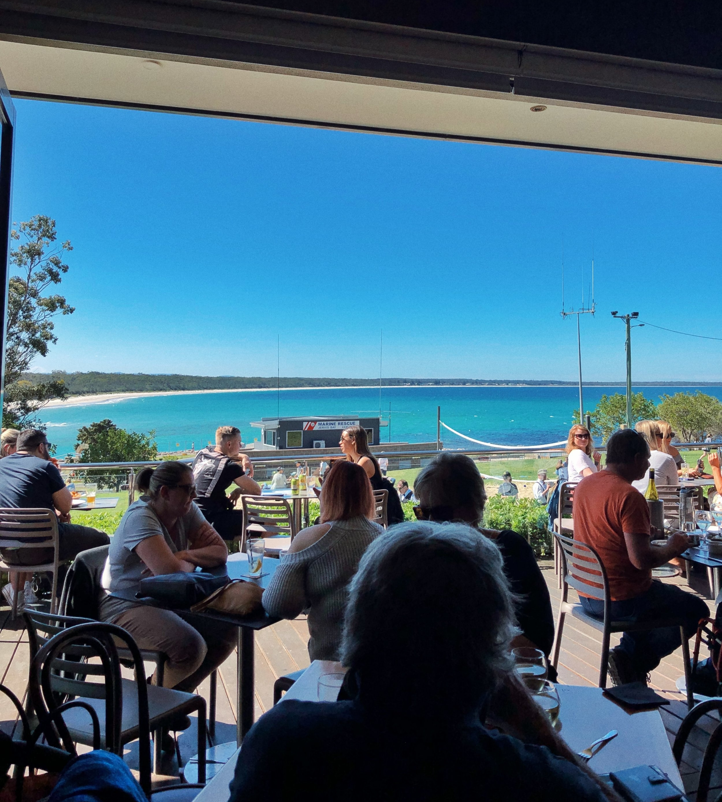 The view from Huskisson's restaurant