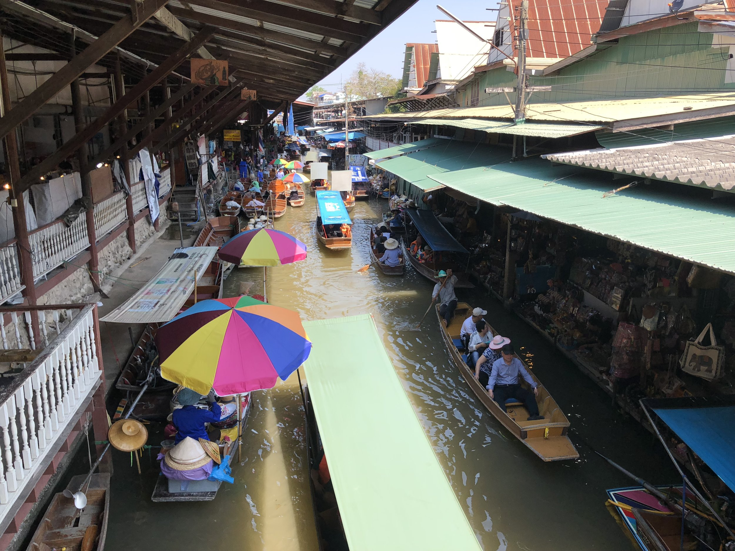 A look of the floating market from above. So lively and colorful!