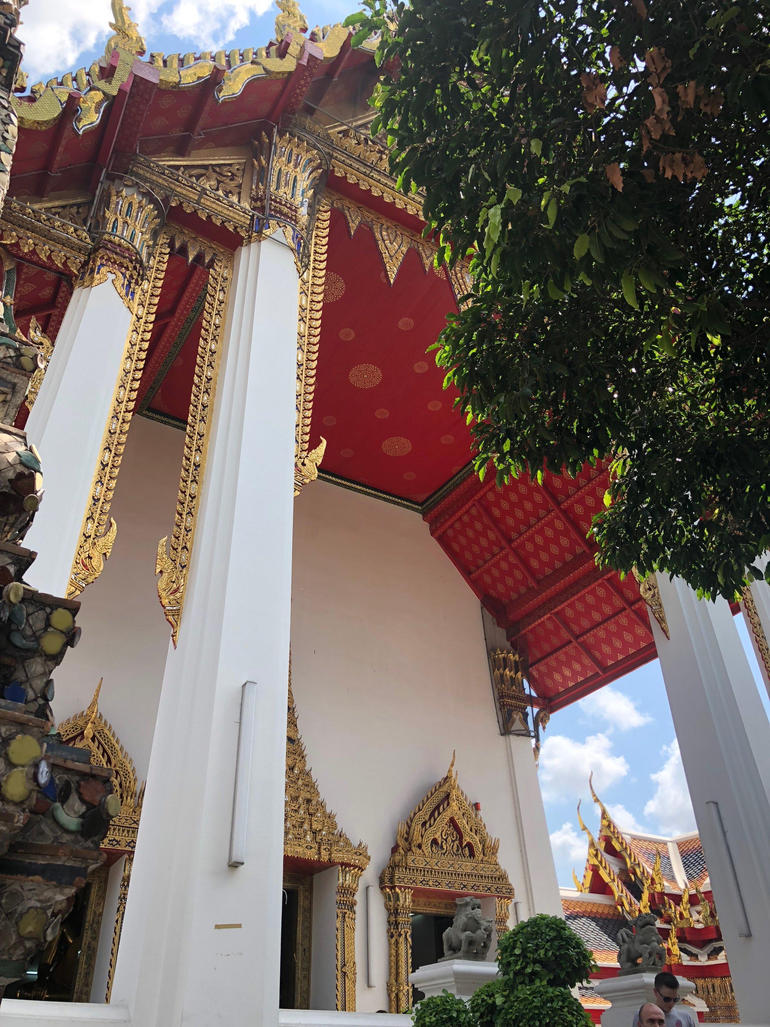 La entrada de la sala del Buda Reclinado.