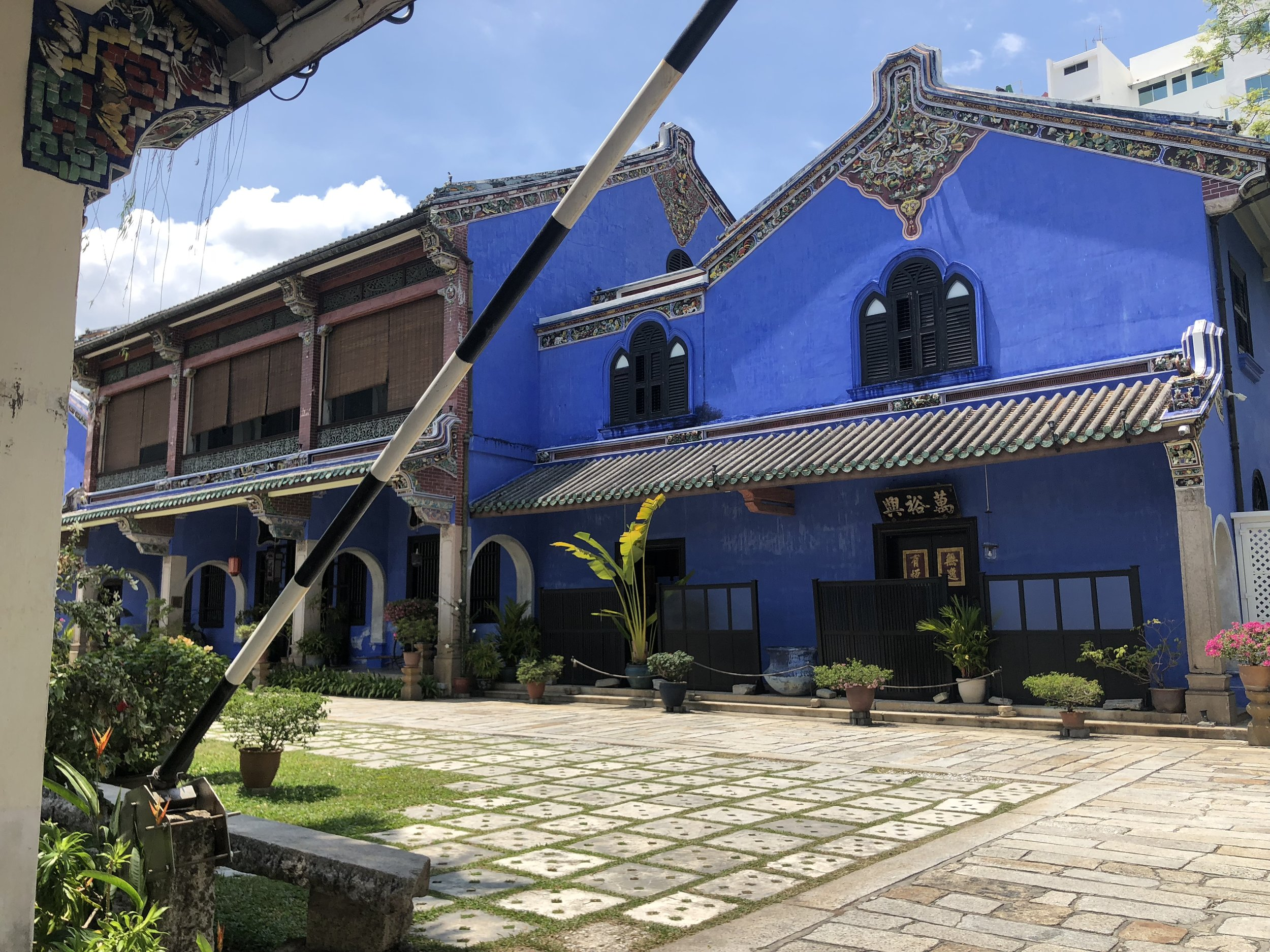 Cheong Fatt Tze Mansion, also known as the Blue Mansion, got its color from the Indigo plant.