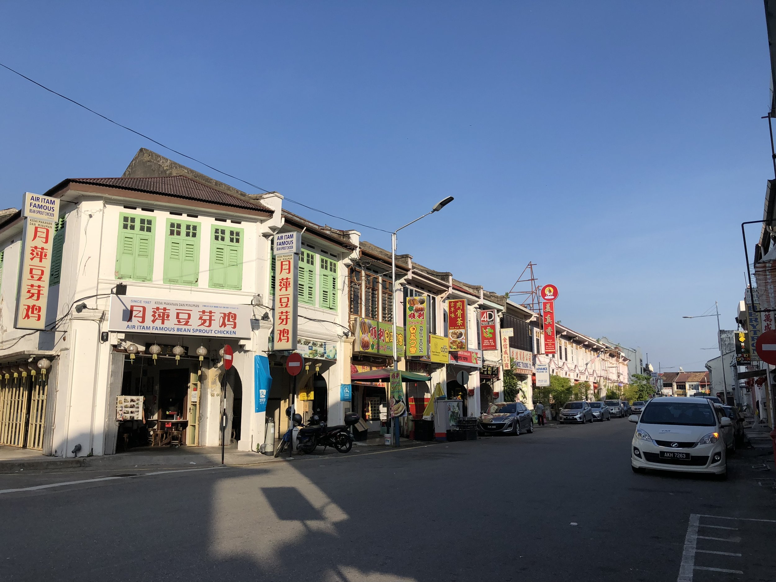 There was a lot of Chinese influence in the shops of Penang.