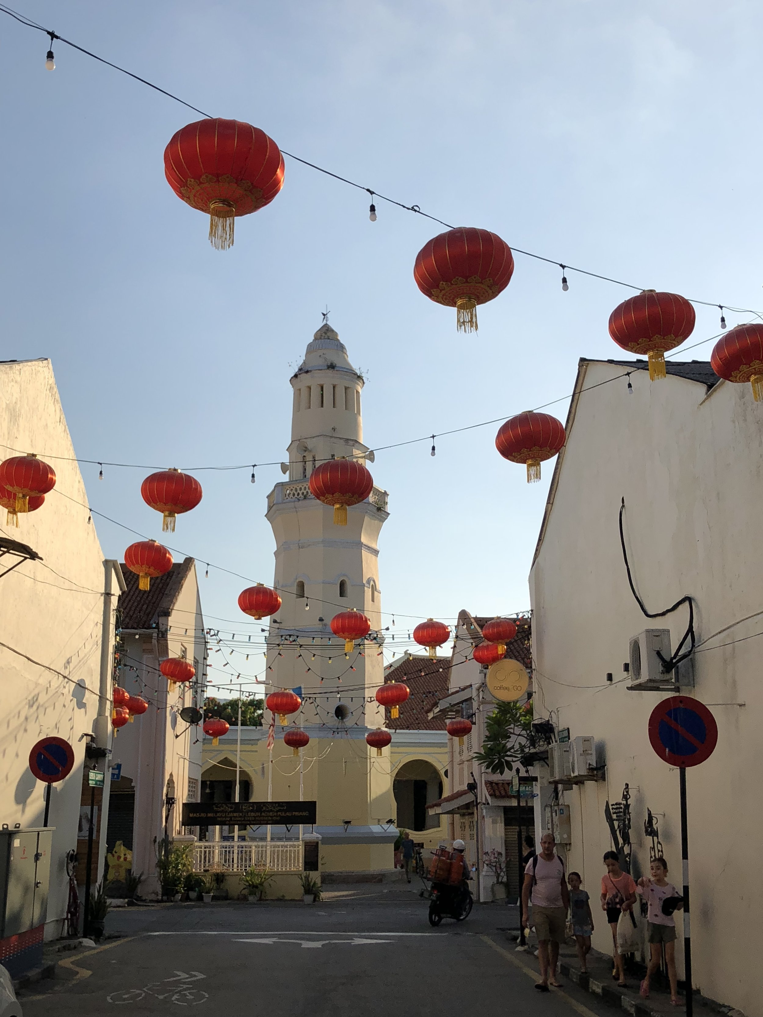 Once last look at an artsy street in Penang!