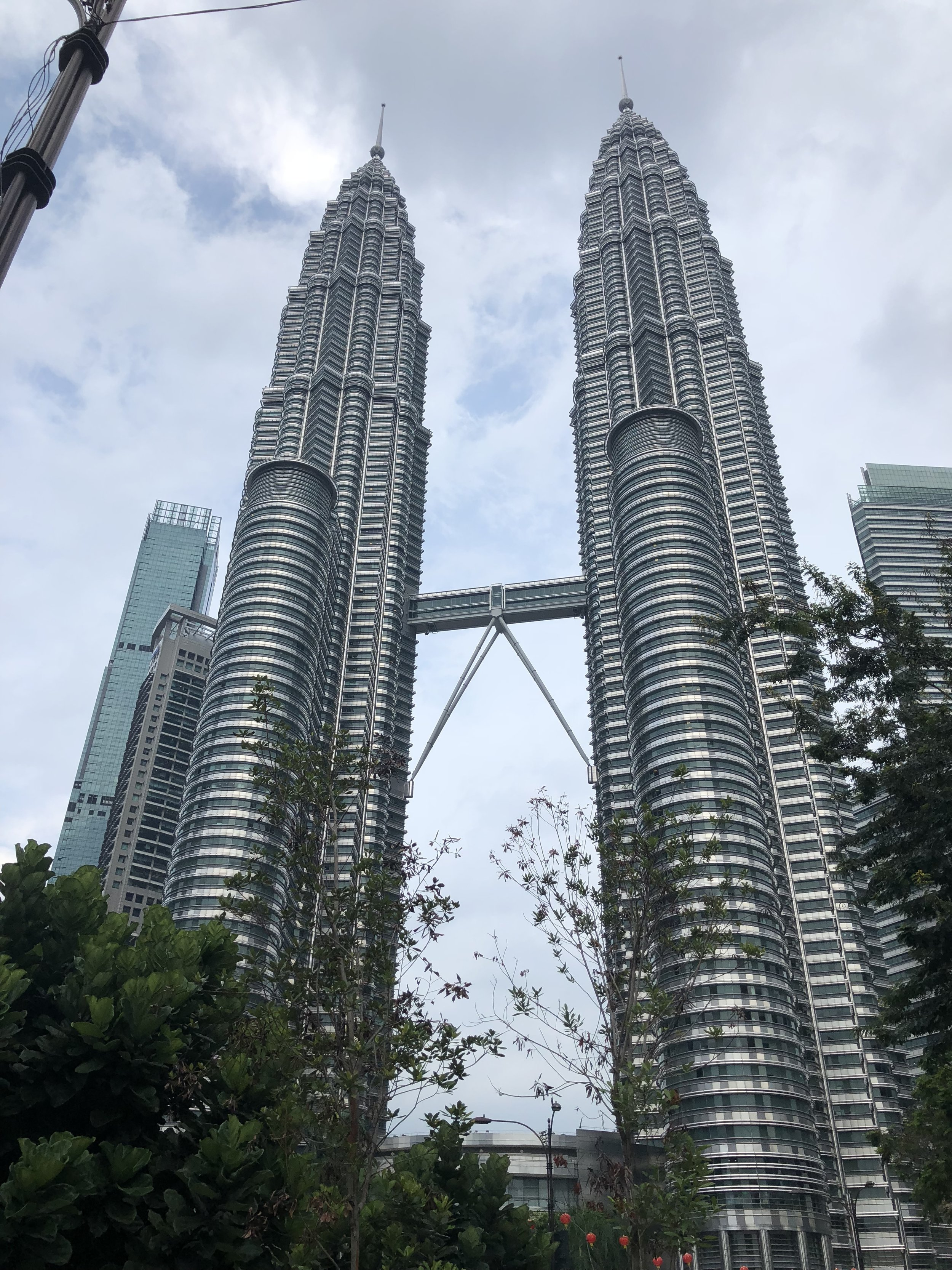 These are the tallest twin skyscrapers in the world, as known as the Petronas Twin Towers. Being from NYC, I really appreciated the view of another twin towers as I hadn't known that there were other twin towers in the world before visiting KL.
