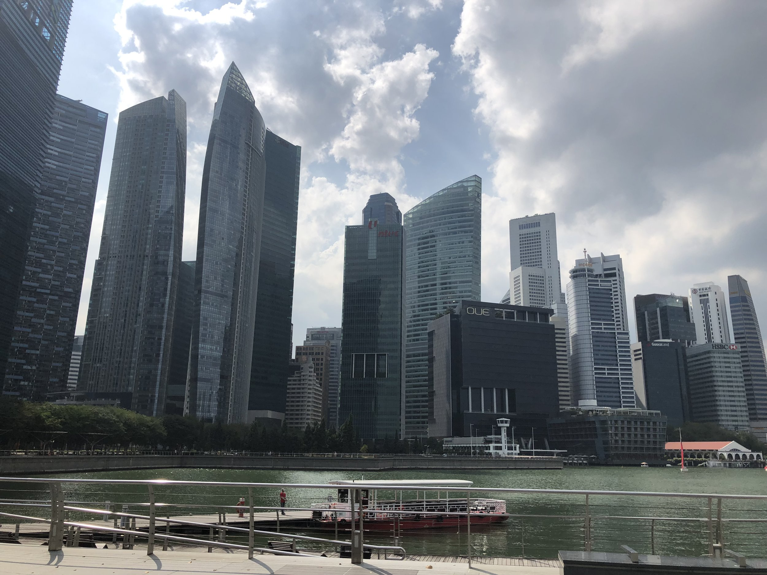 A picture of my walk thus far to Gardens by the Way…so many skyscrapers!