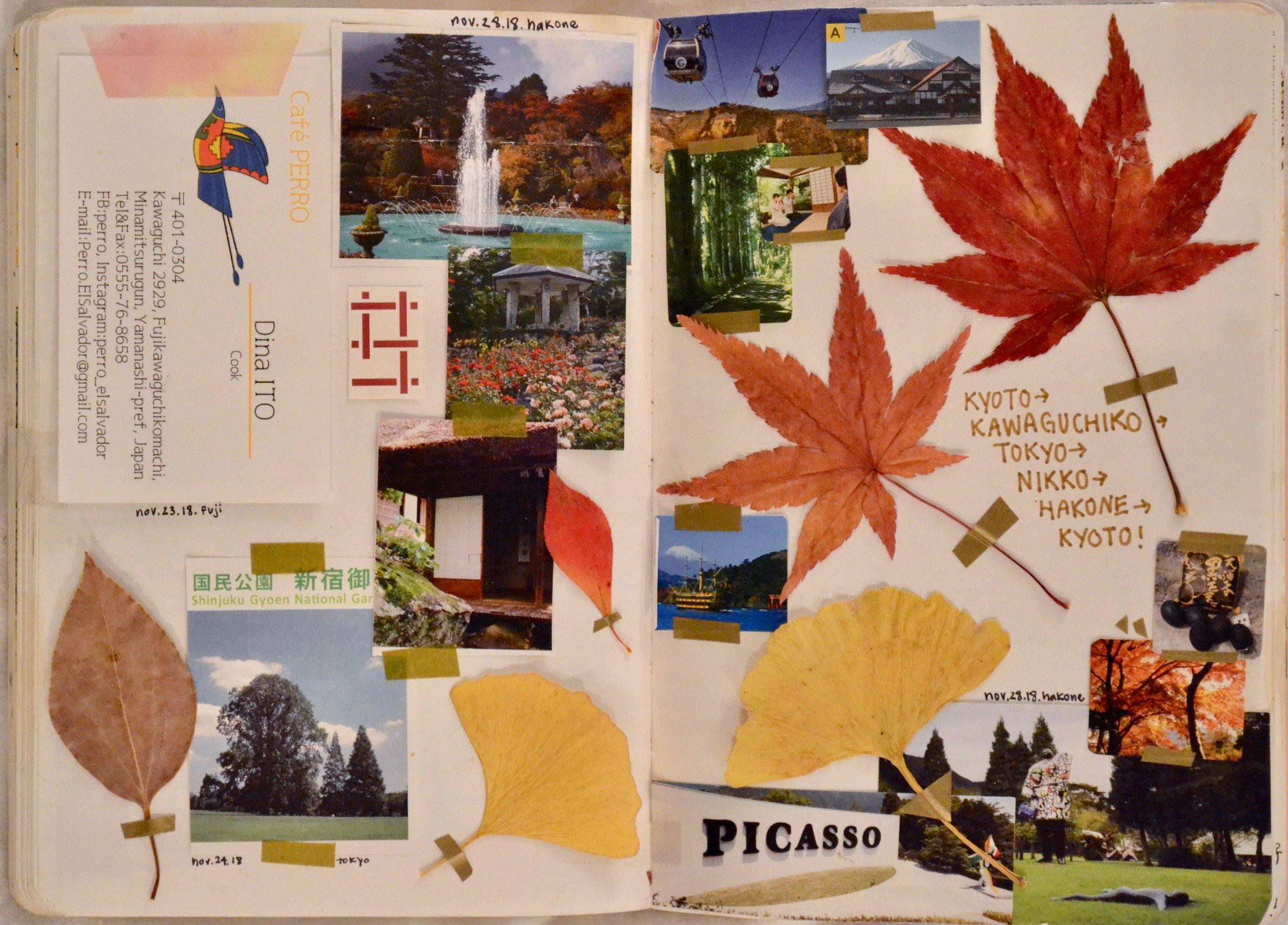 Cuando visito a lugares nuevos, me gusta colectar panfletos y folletos con fotos de los lugares donde visite.