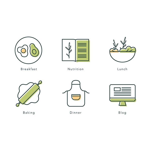 One of my all time favourite icon sets designed for Sophie's Healthy Kitchen keeping to her colour palette and using her brand illustration where we could 🌱 still swooning over these! . . . #melonandink #icondesign #iconset #flaticon #iconaday #iconutopia #icondesigner #brandingdesign #brandingidentity #branding101 #brandelements #brandstylist #brandstyling #vectorillustration #vectordesigner #visualidentity #identitydesign #brandstrategy #smallbusiness #smallbusinessbranding #personalbrand #businessbranding #brandyourbusiness #designstudio #femalepreneur #personalbranding #iconillustration