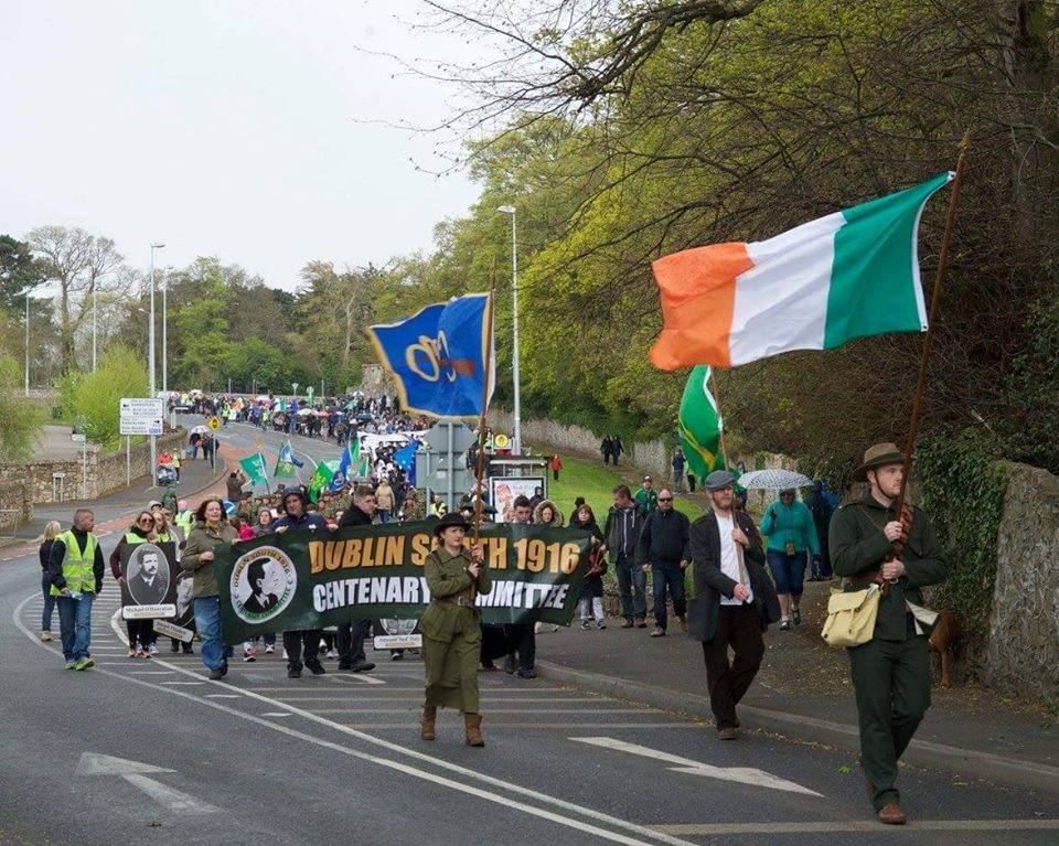 The '1916 People's Parade' in 2016 was a massive community celebration of the 1916 Rising. Organised by the Dublin South 1916 Centenary Commemoration Committee that I helped found and Chair.