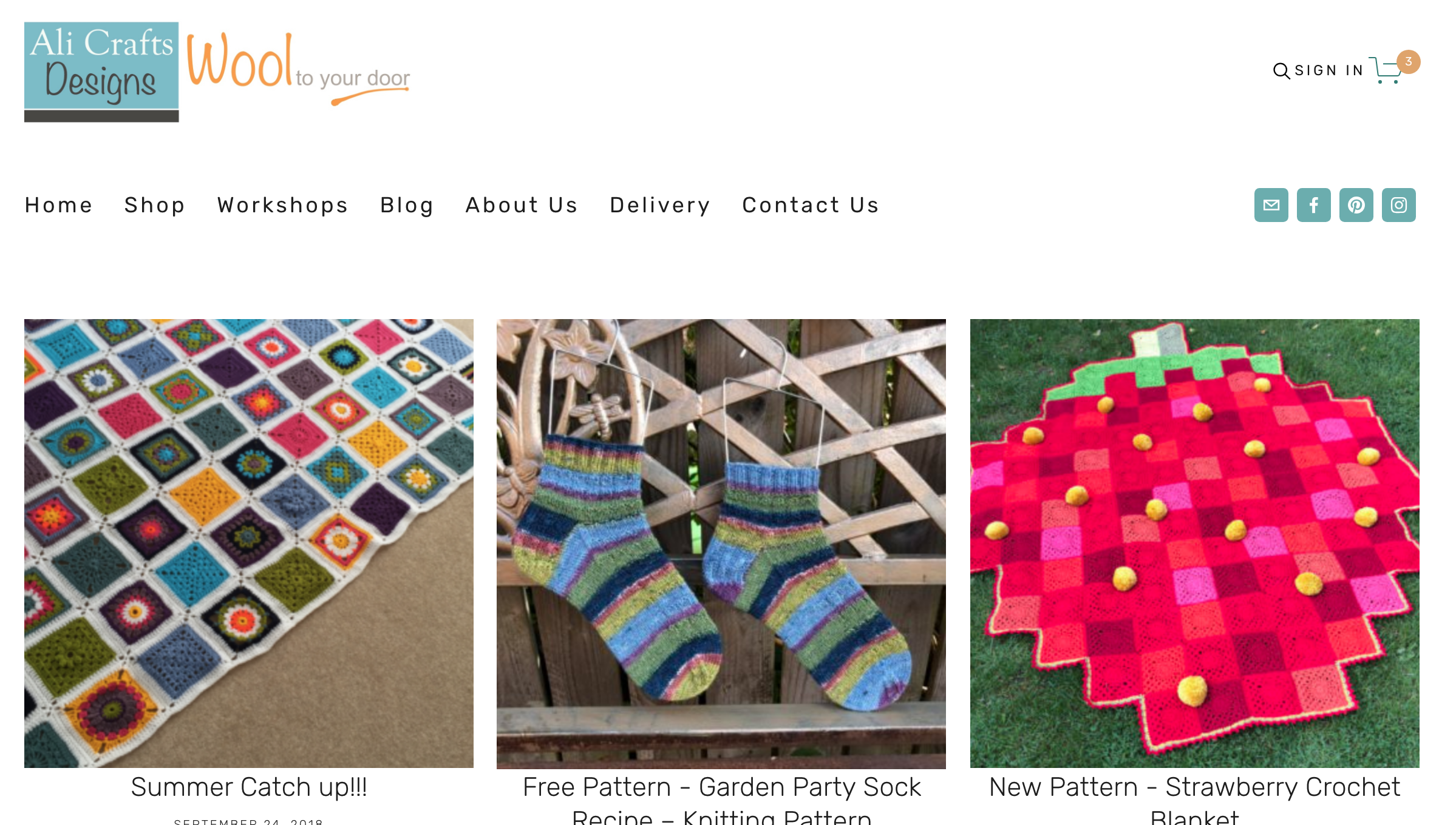 Brand new site - Simple layout so the products are easier to see and find.