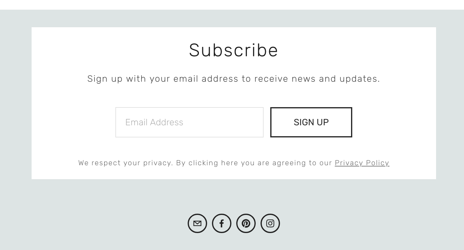 Subscribe to our newsletter - We send out emails to let you know about new products, patterns and offers.