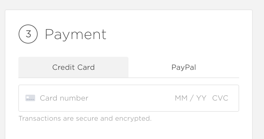 More ways to pay - You can pay by credit card, paypal and apple pay.