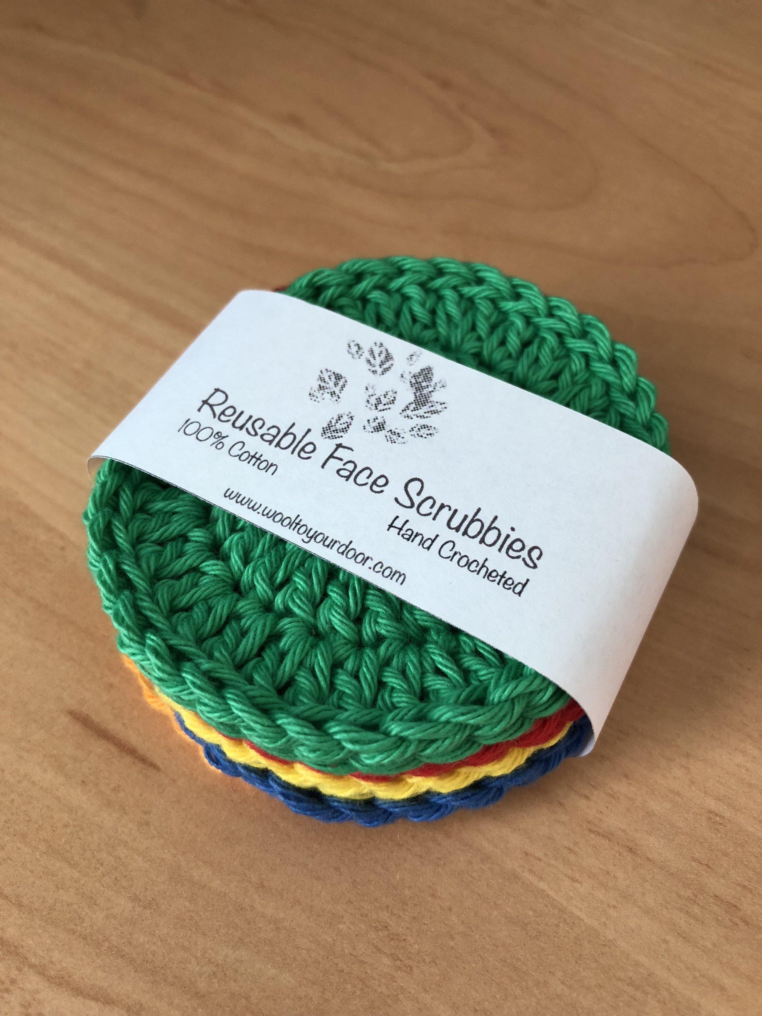 Free face scrubbies crochet pattern