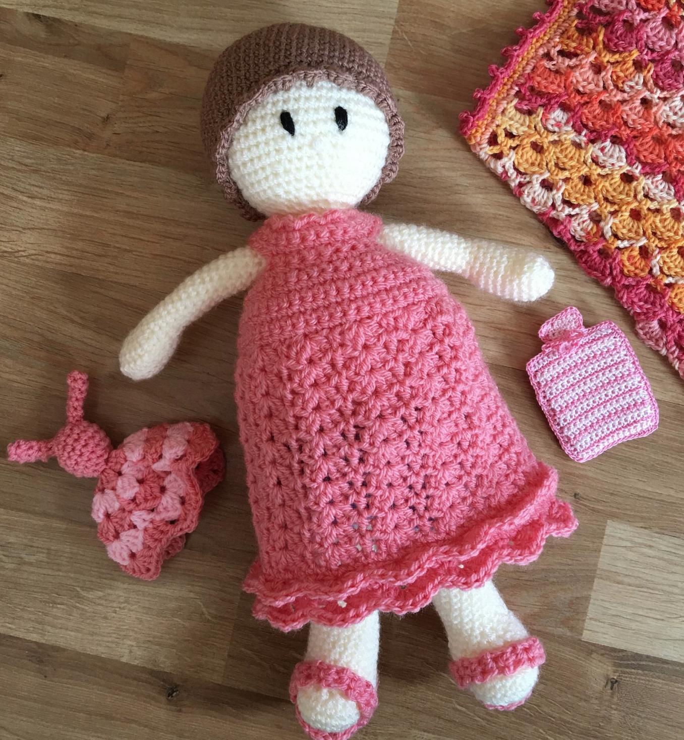 Bedtime for Florence Elizabeth - PDF Crochet Pattern (doll pattern not included)