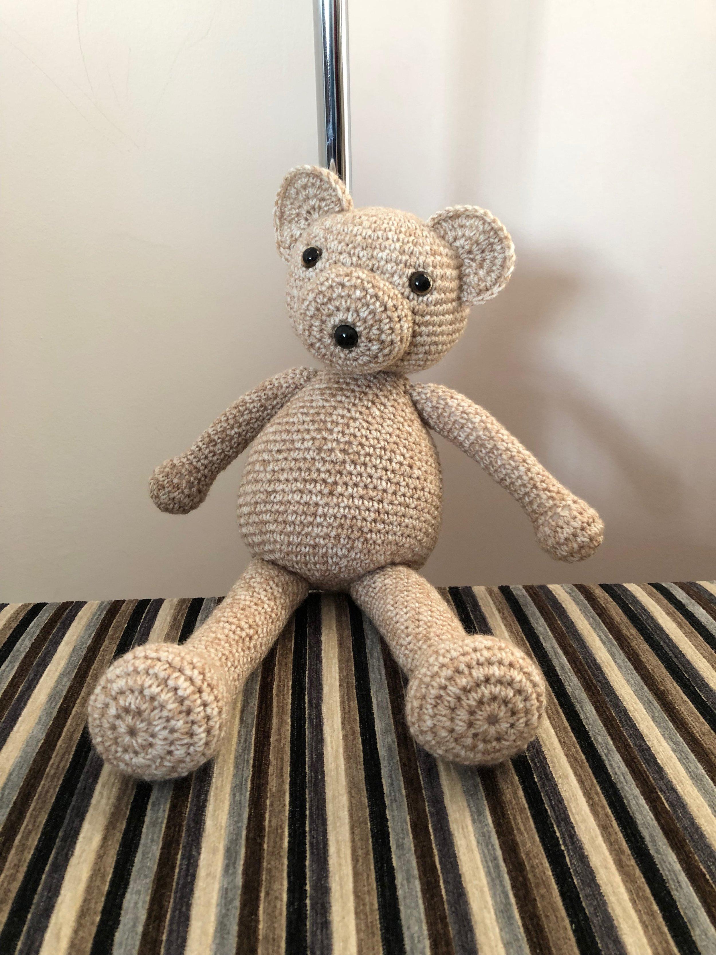 Fred bear - Crochet bear made in Stylecraft Batik