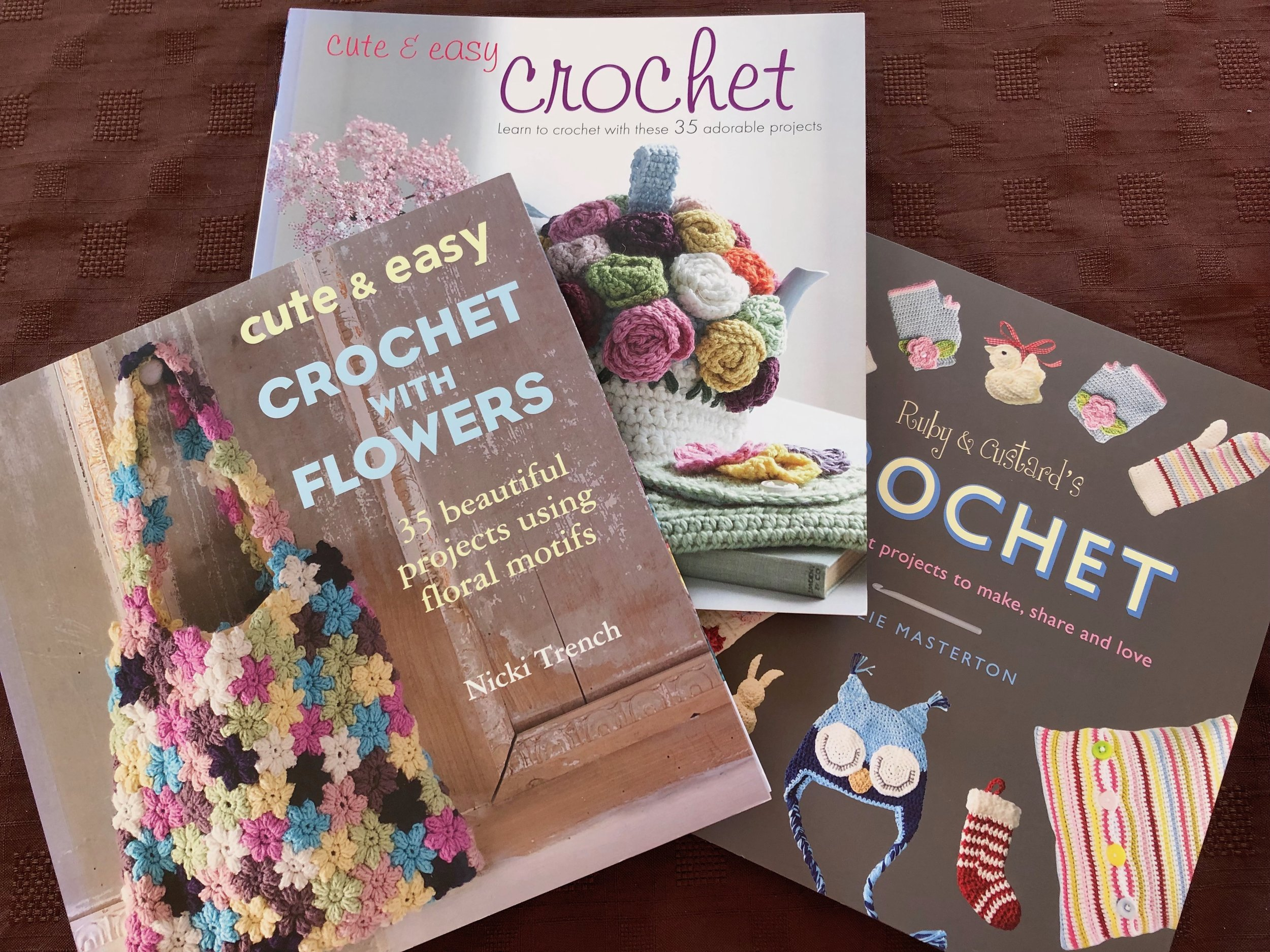 Crochet books in my collection