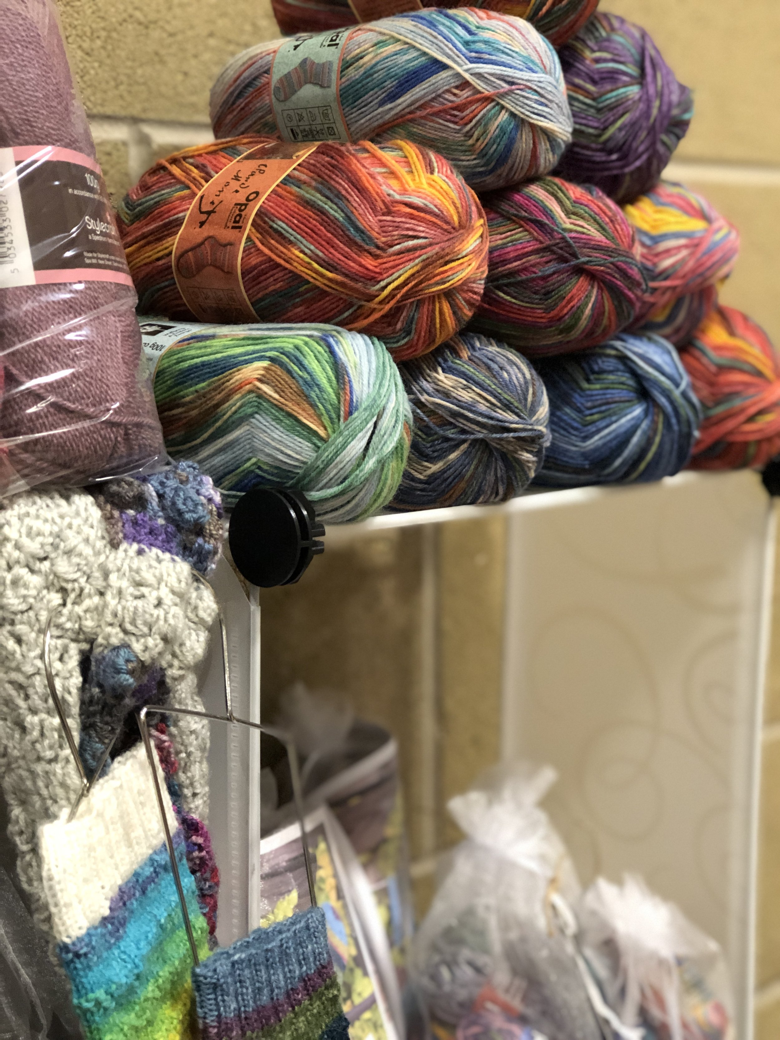 Ali crafts designs at Spring in to wool
