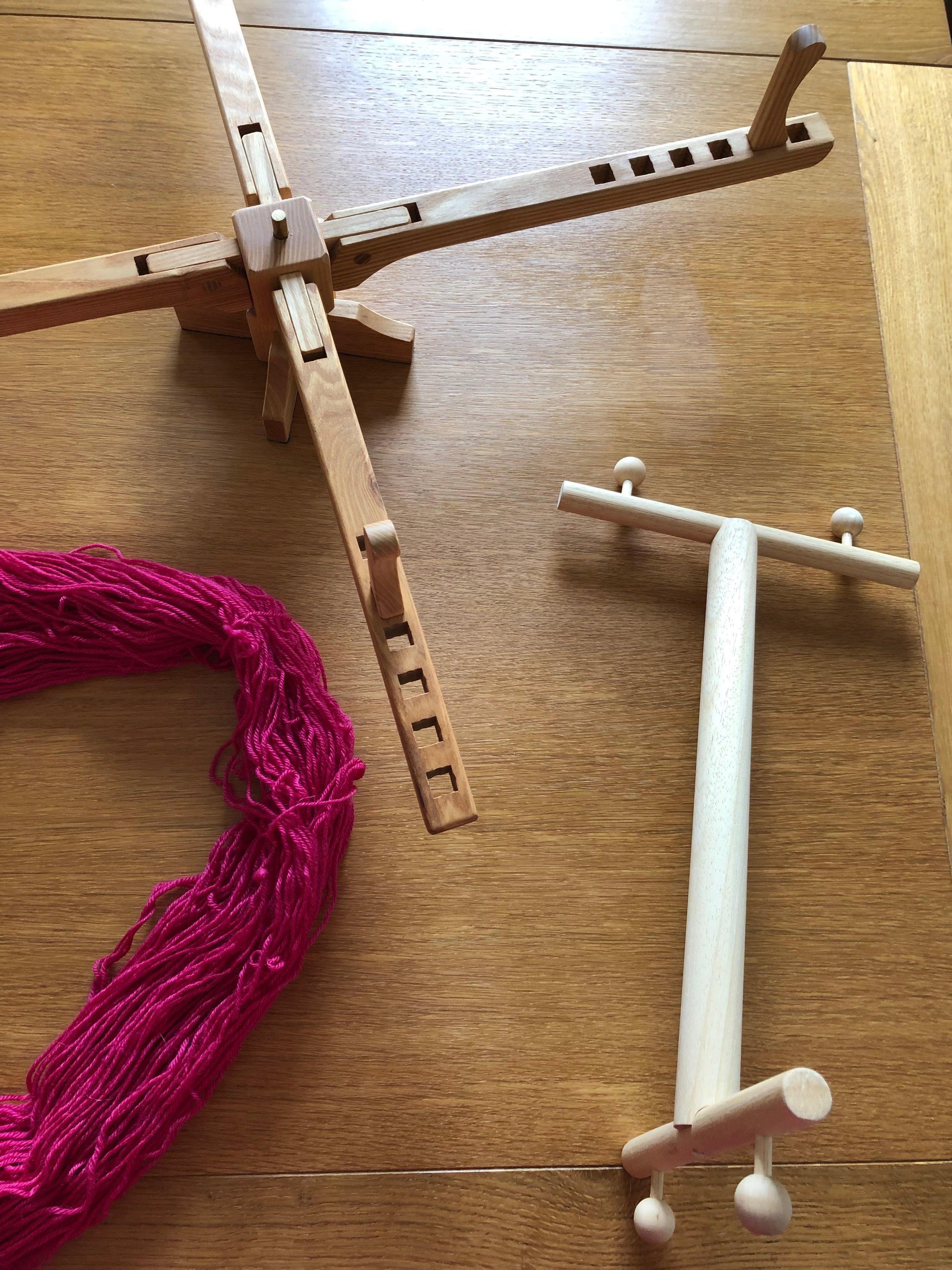 Yarn winding on a swift