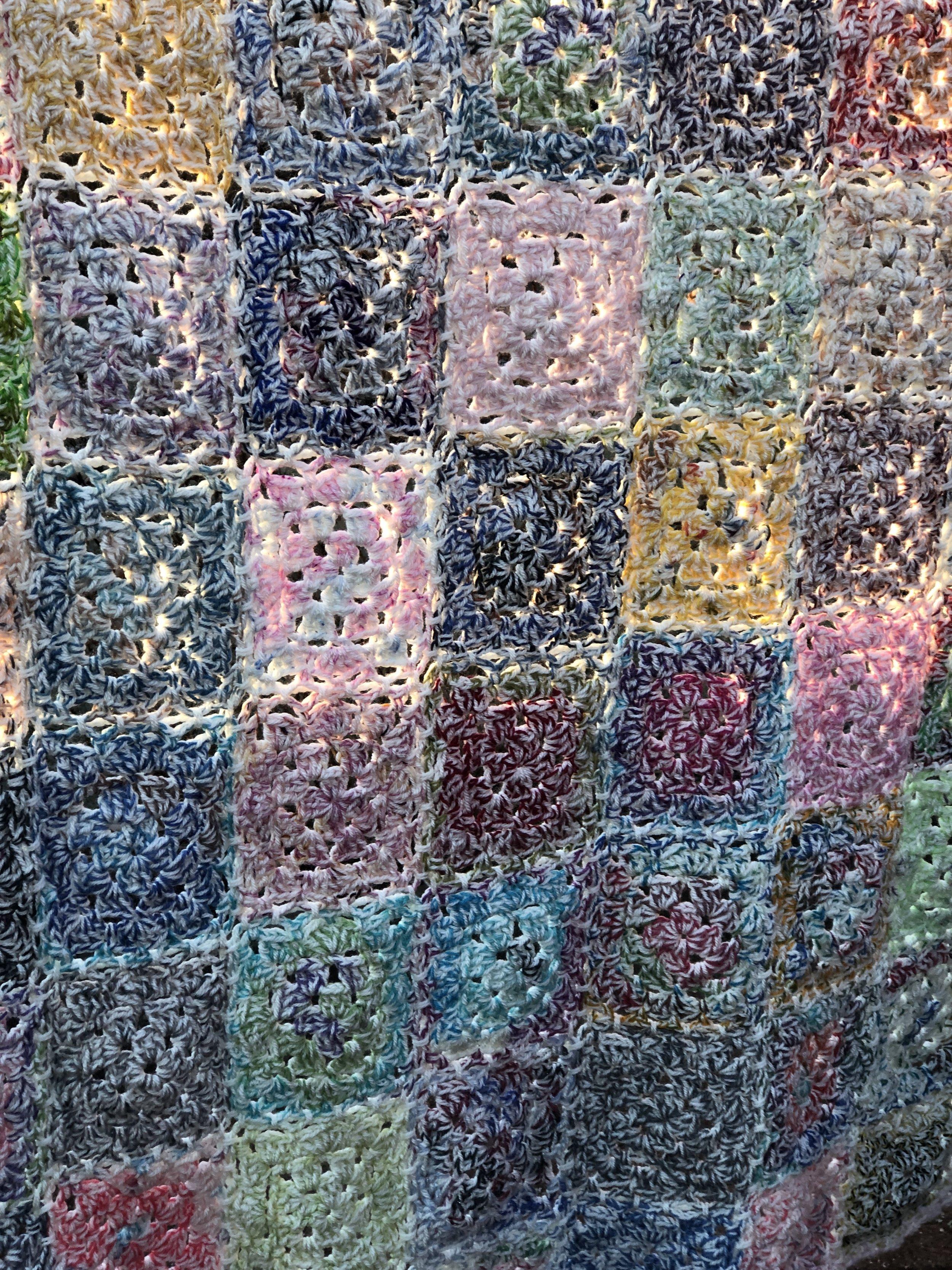 Tatty Blanket - Great crochet scrap blanket