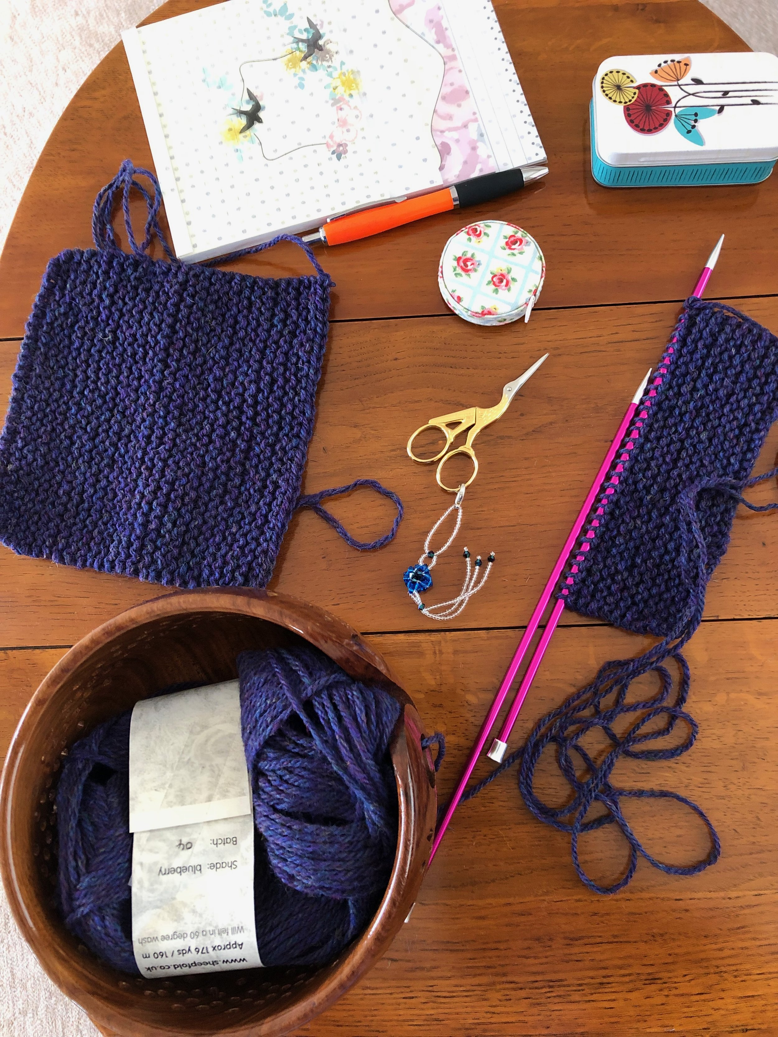 Simple online free pattern from Purl and Jane in Skipton