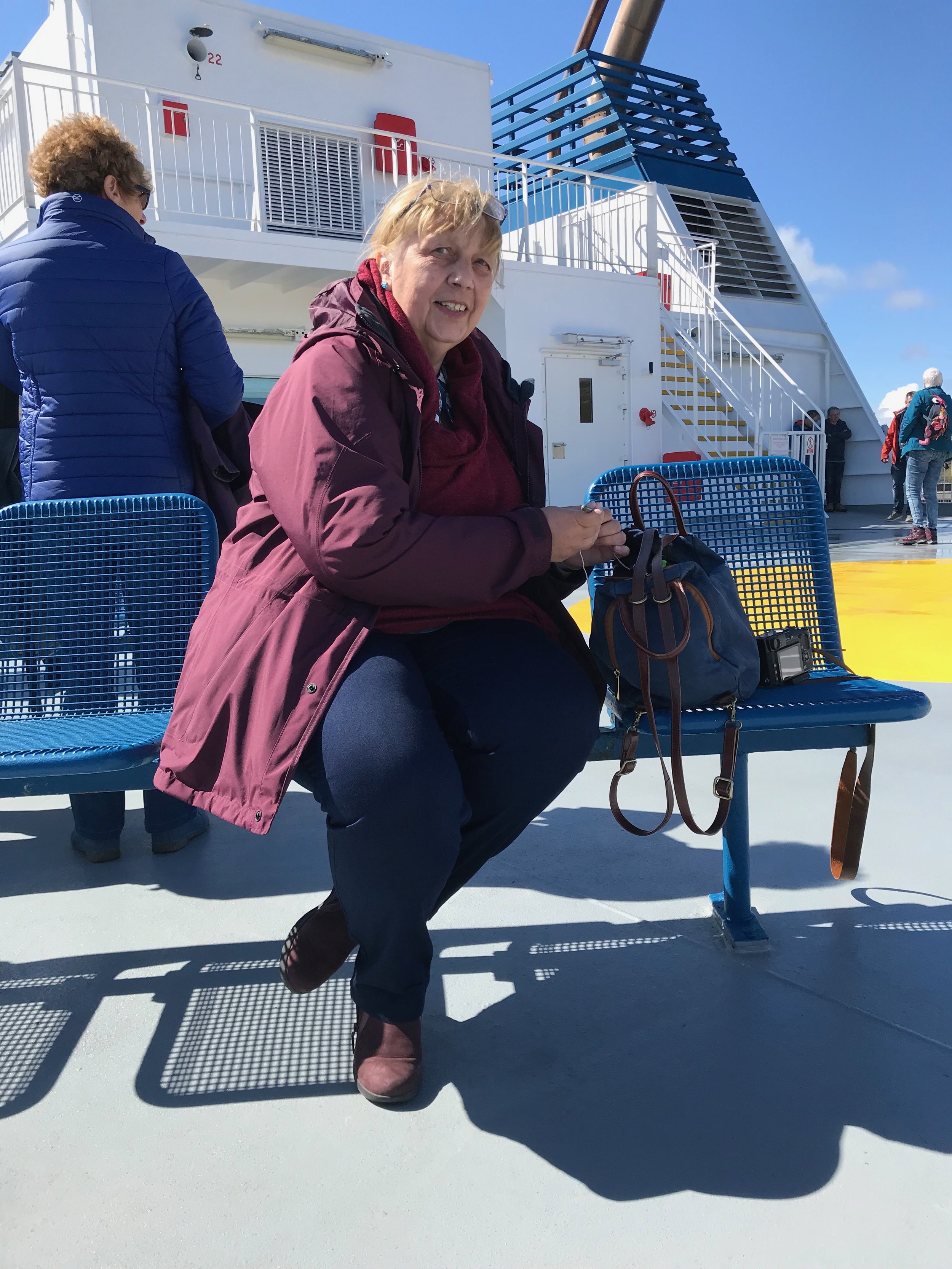 Crochet on the ferry