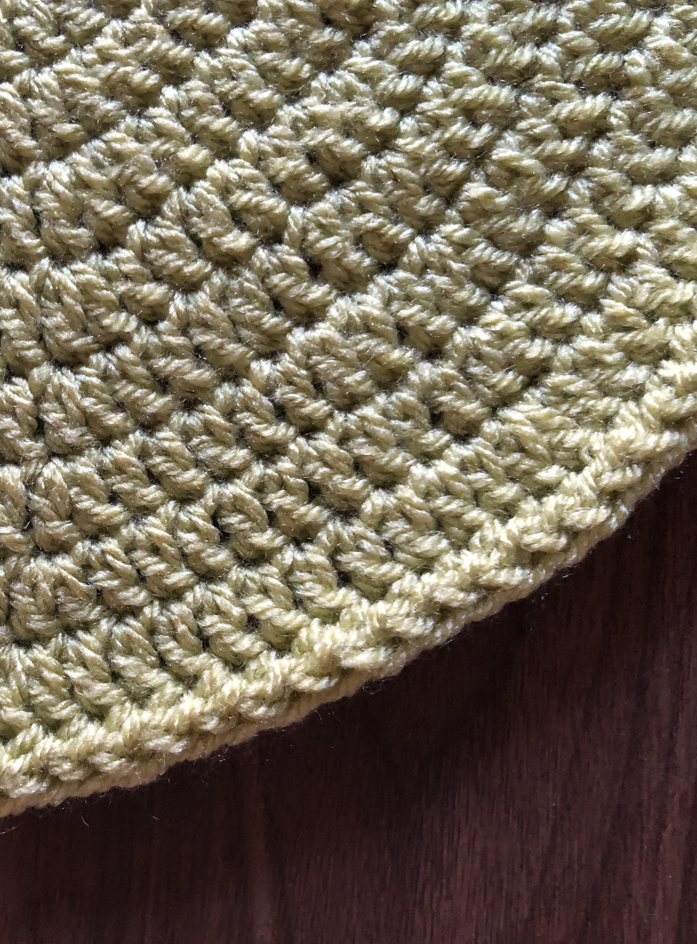 How to crochet an icord border