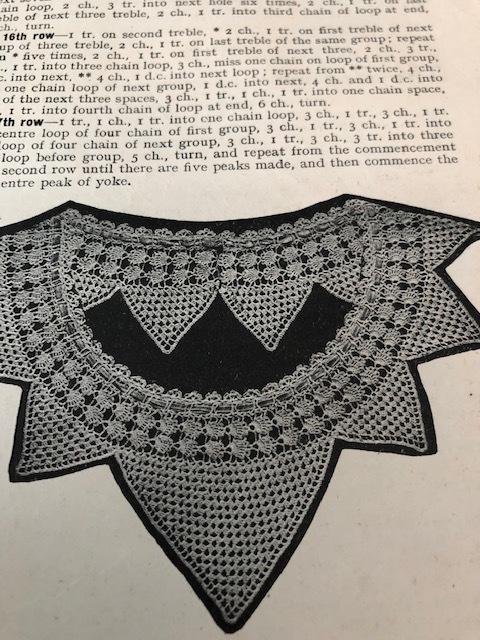 Vintage crochet magazine - yokes
