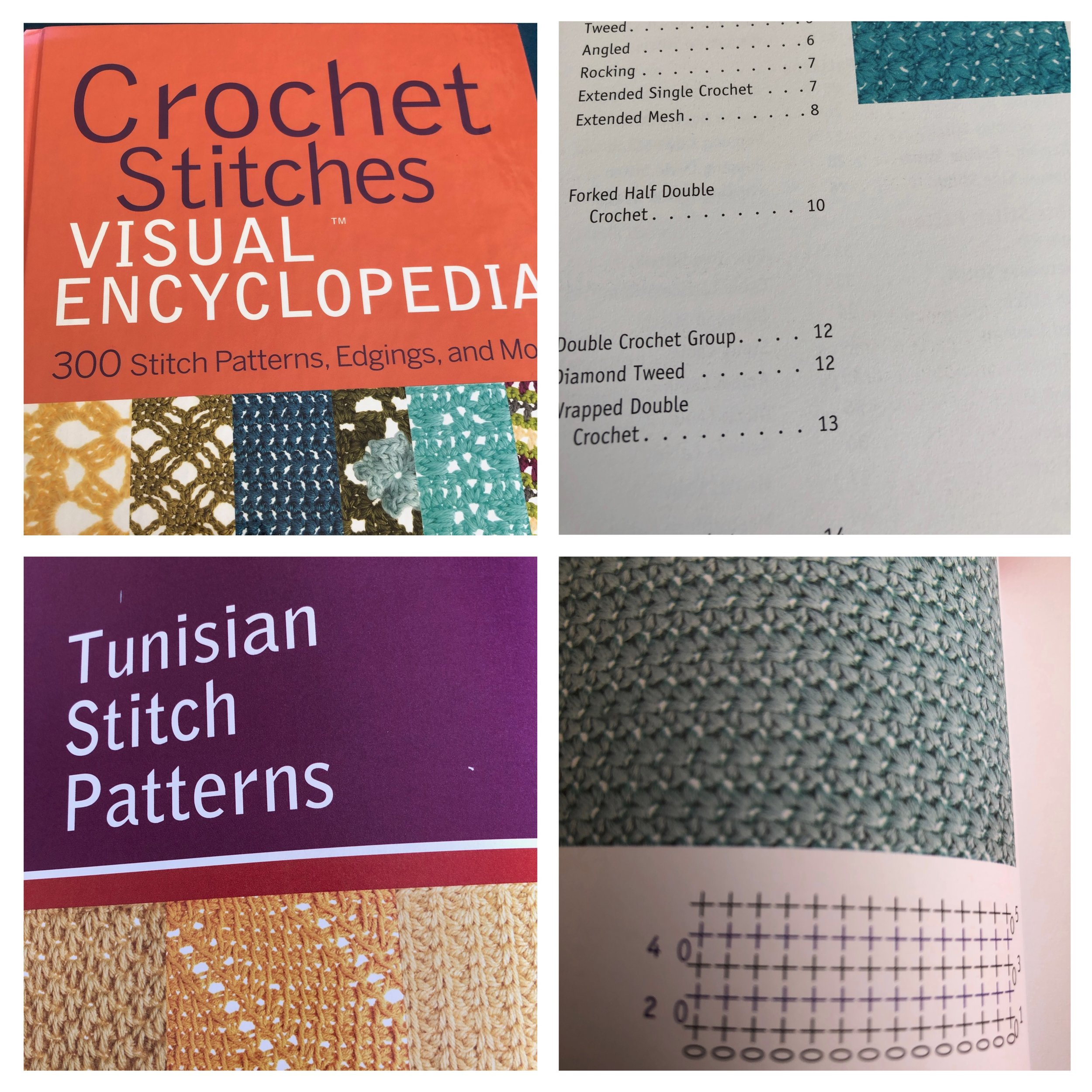 Crochet stitched book