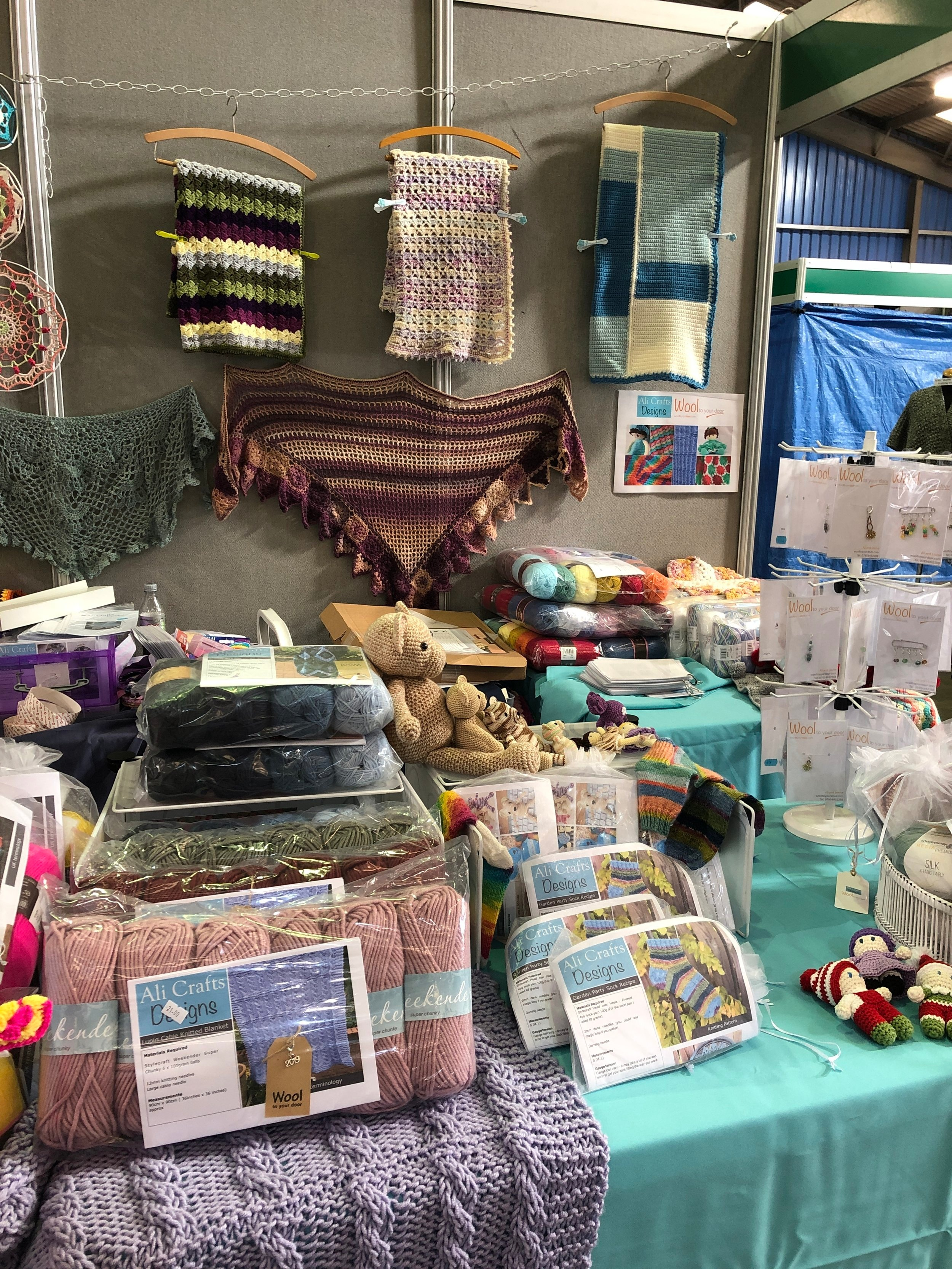 Show stand at the British Wool Show