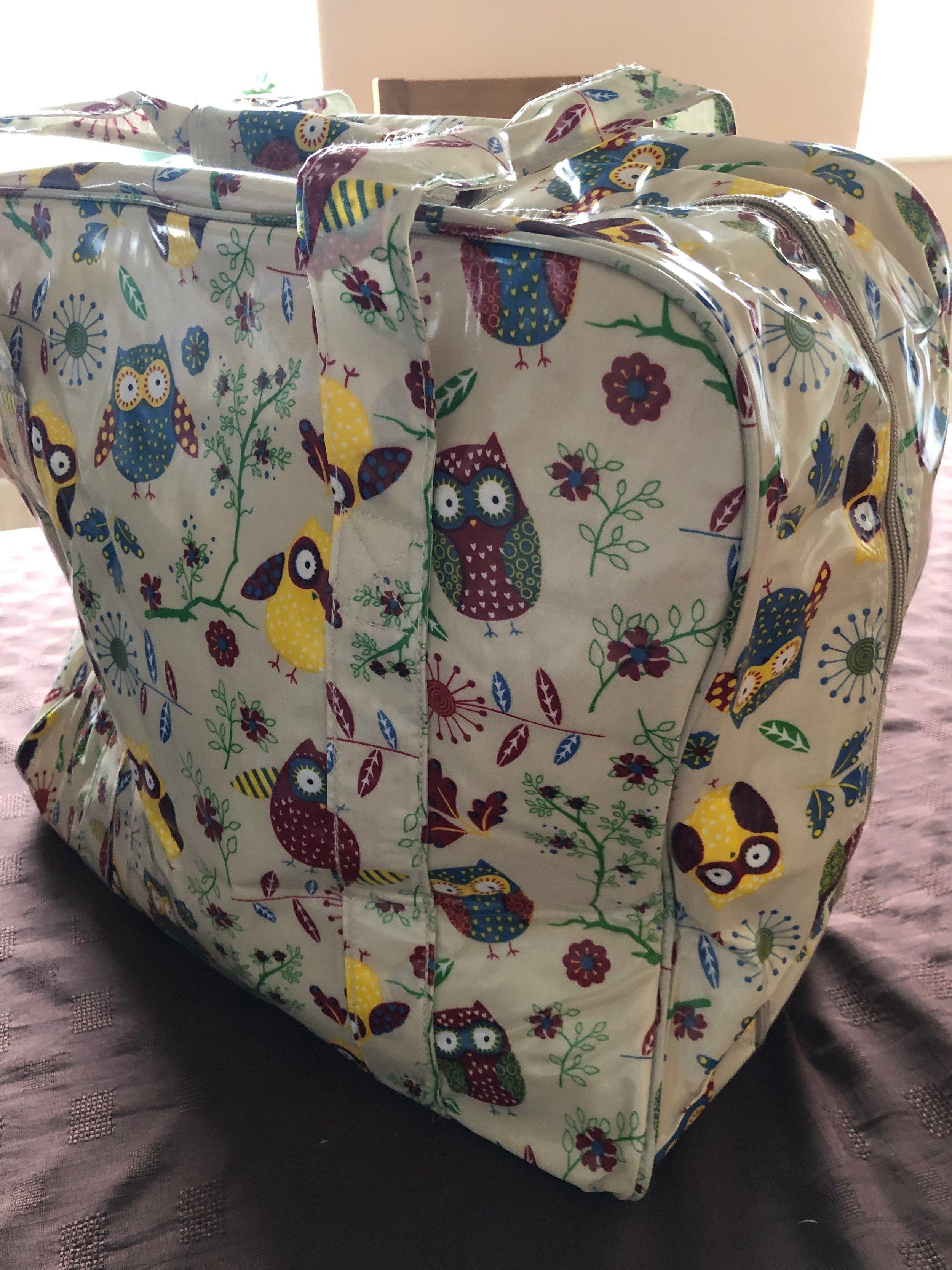Owl sewing machine bag