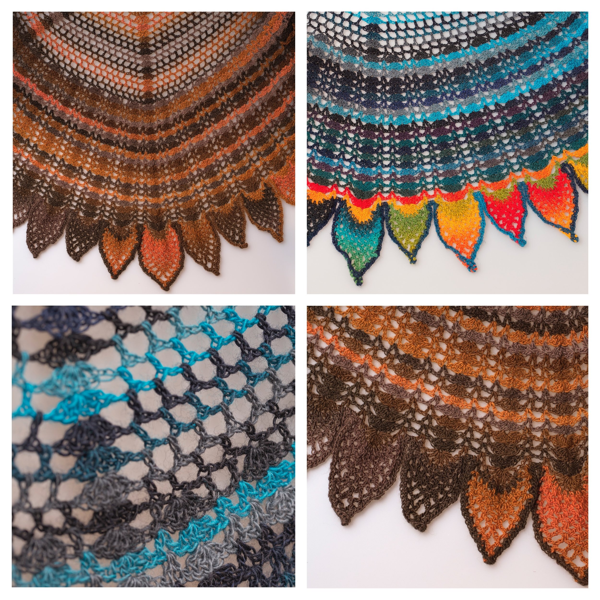 Jessica Crochet Shawl Pattern - Lovely lac shawl with a detailed lace border.