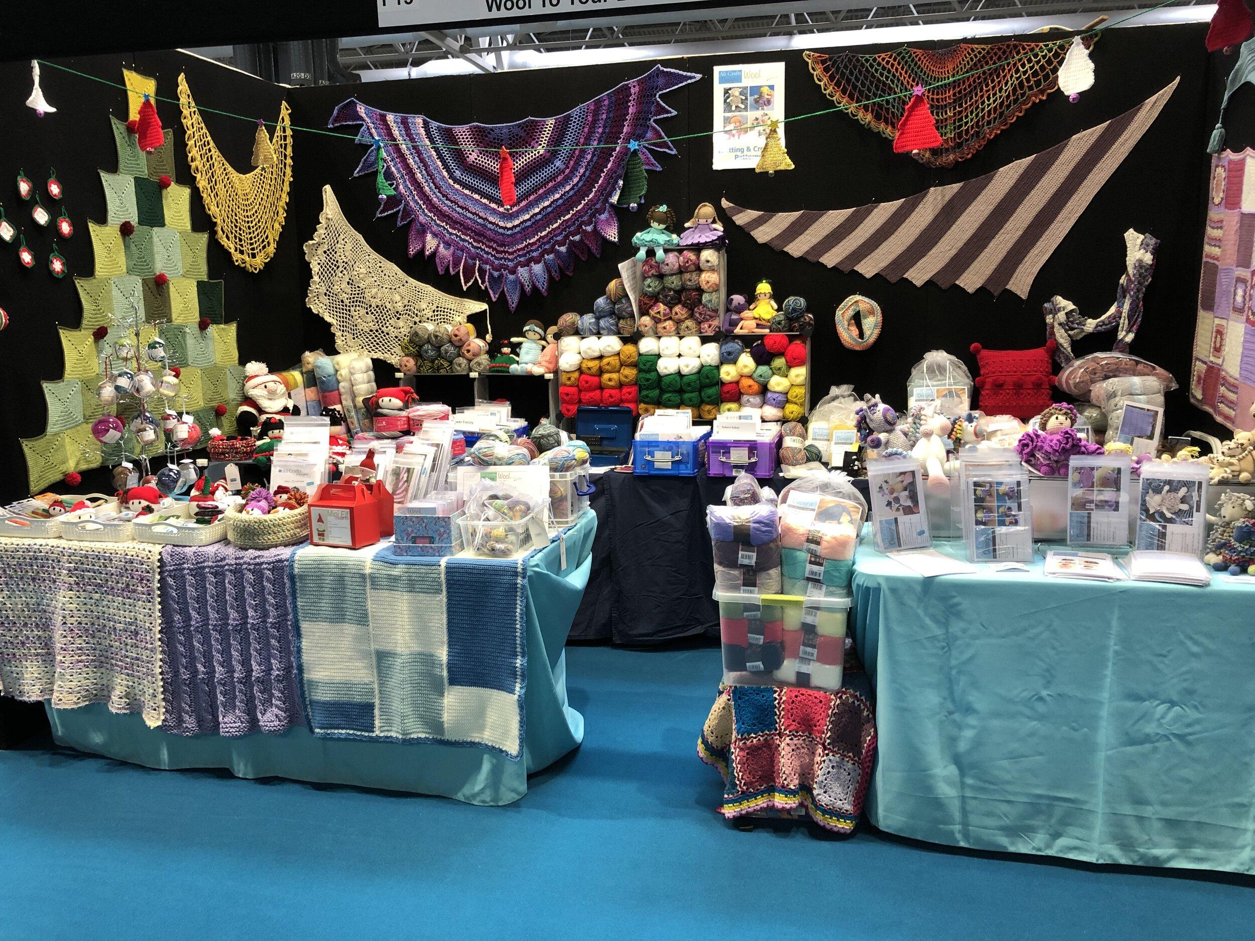 Crochet at the Birmingham NEC - Kits, patterns and yarn.
