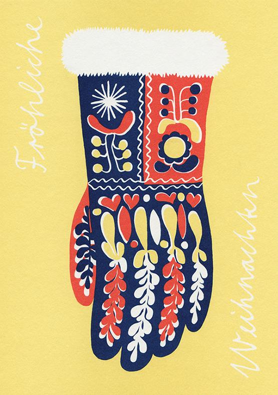Christmas card, Blumengalerie St. Moritz