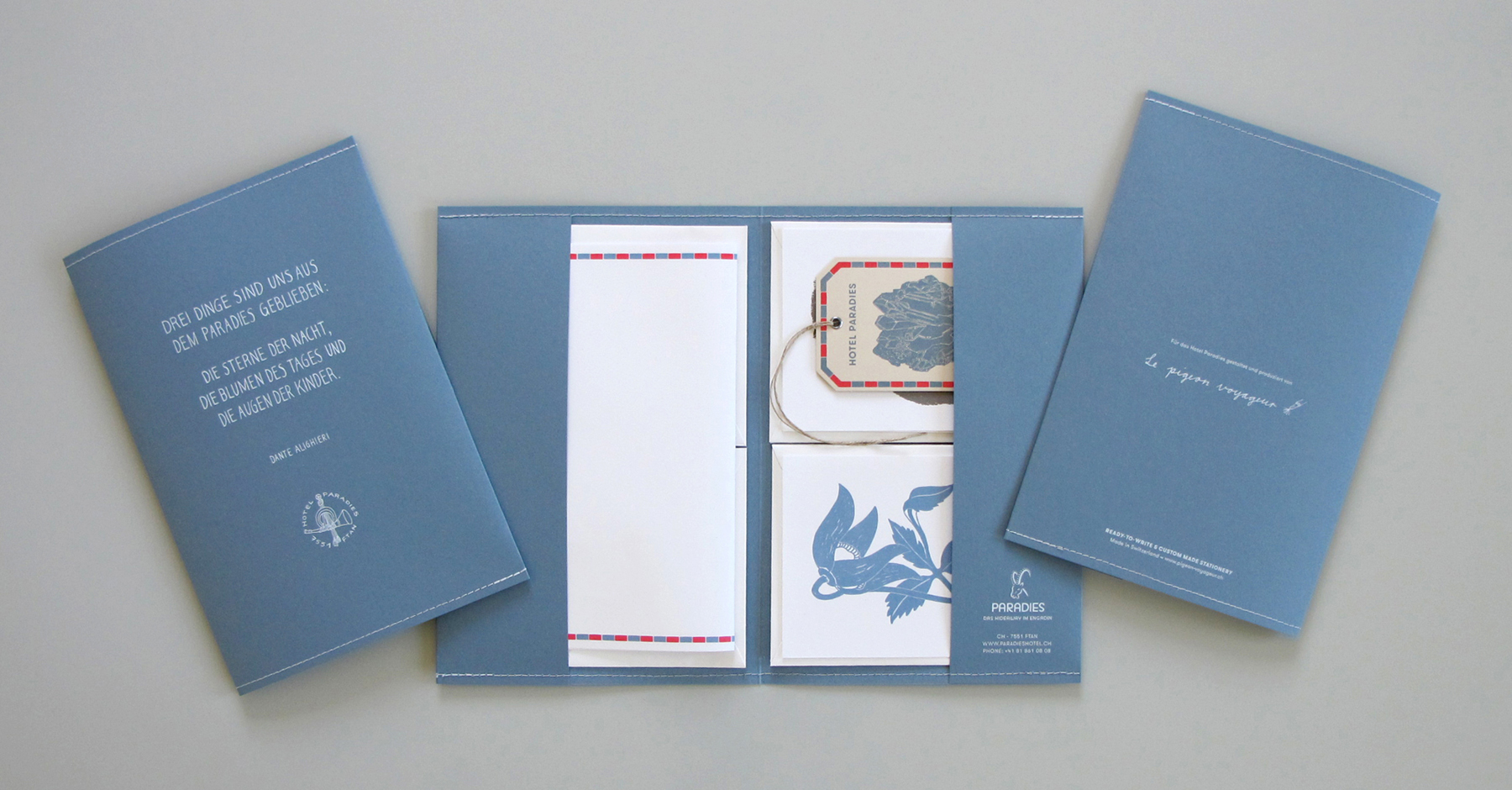 Stationery set, Hotel Paradies Ftan