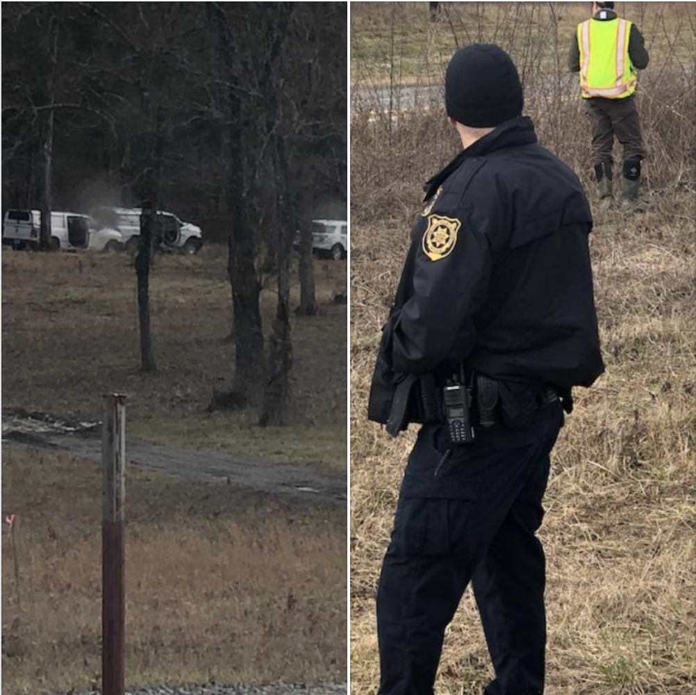 TVA employees supported by an armed guard entered the private property on January 22, 2019