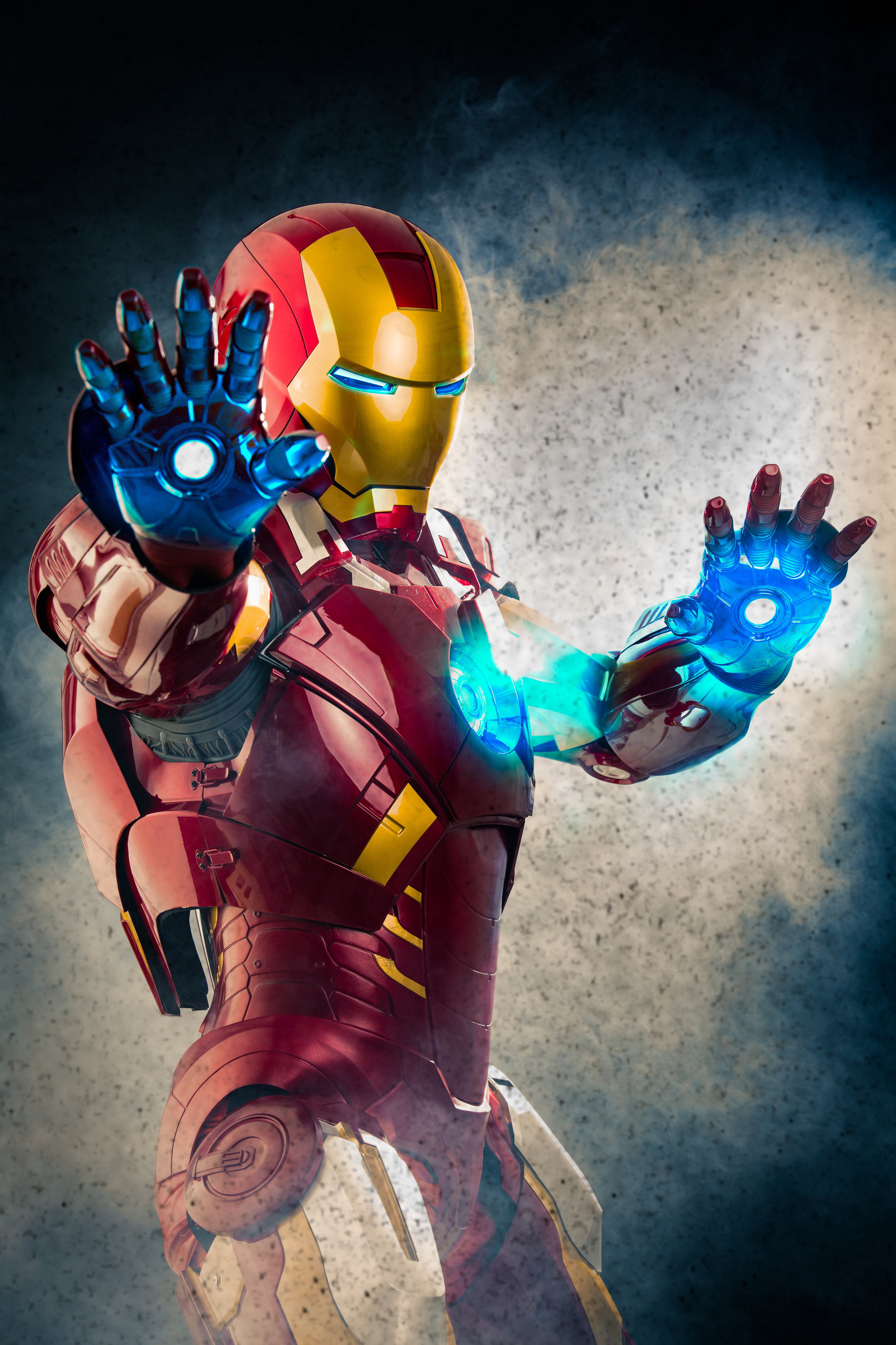 The final image of Iron Man, captured at ELM Photo Studio