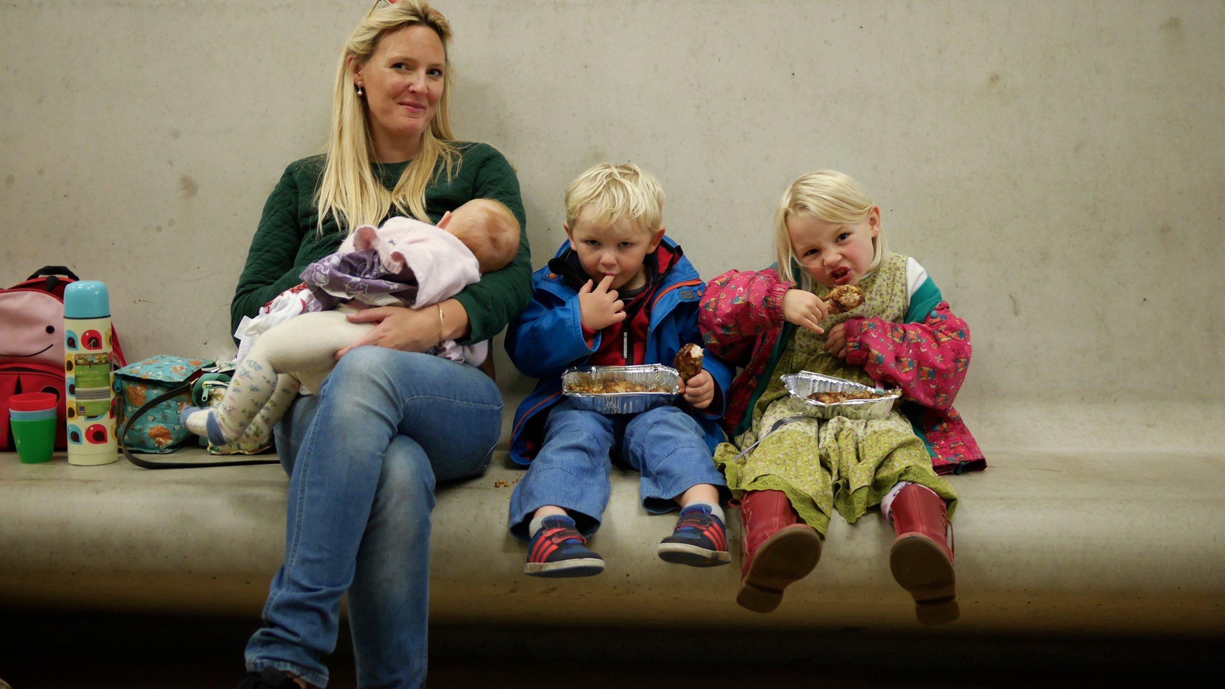 Rosie Dalling, with her children