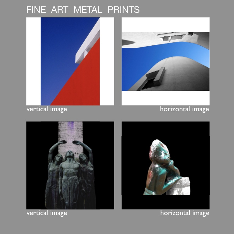 fine art metal prints - - metal prints available with white or black background
