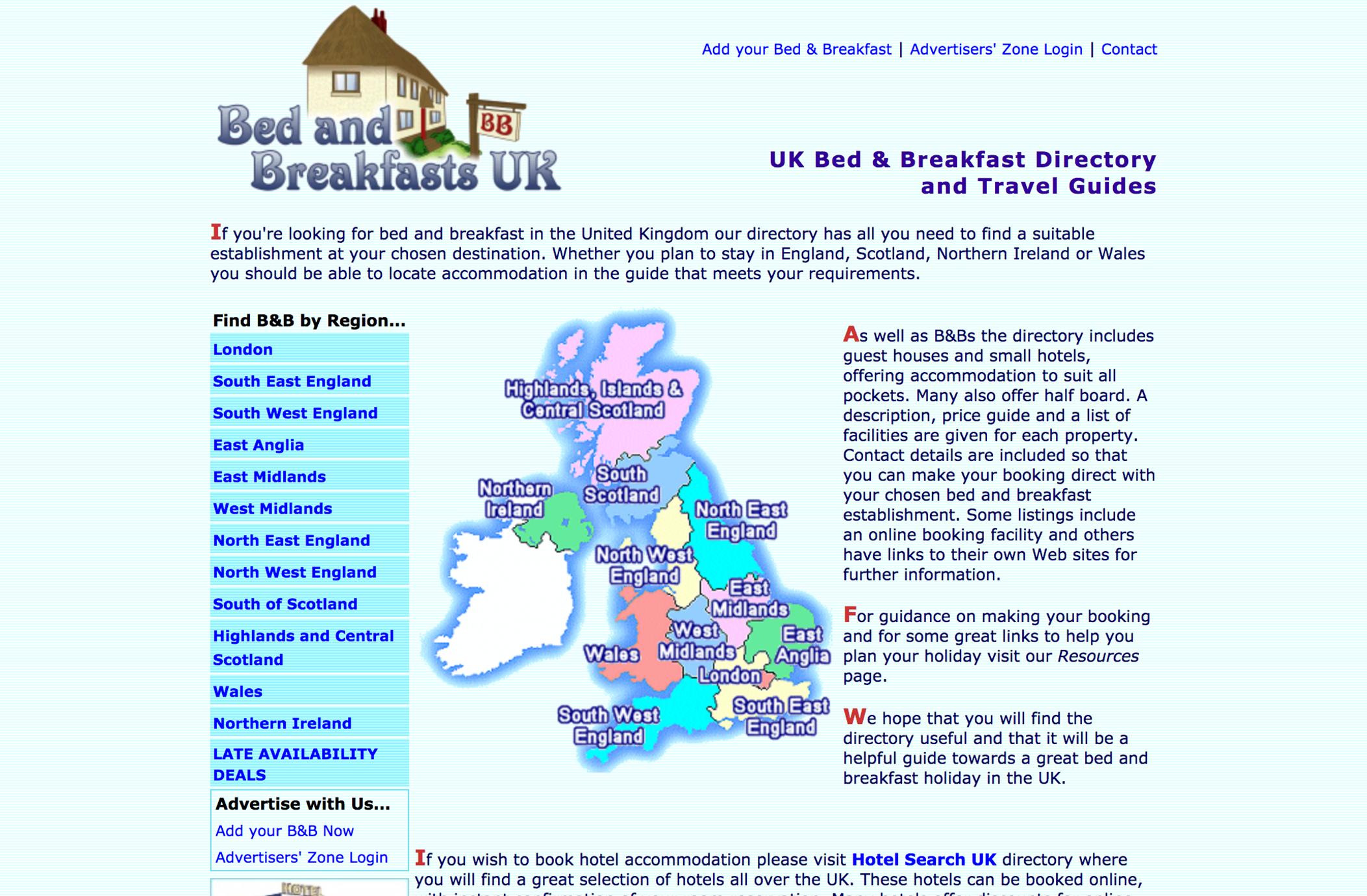 Bed & Breakfasts UK