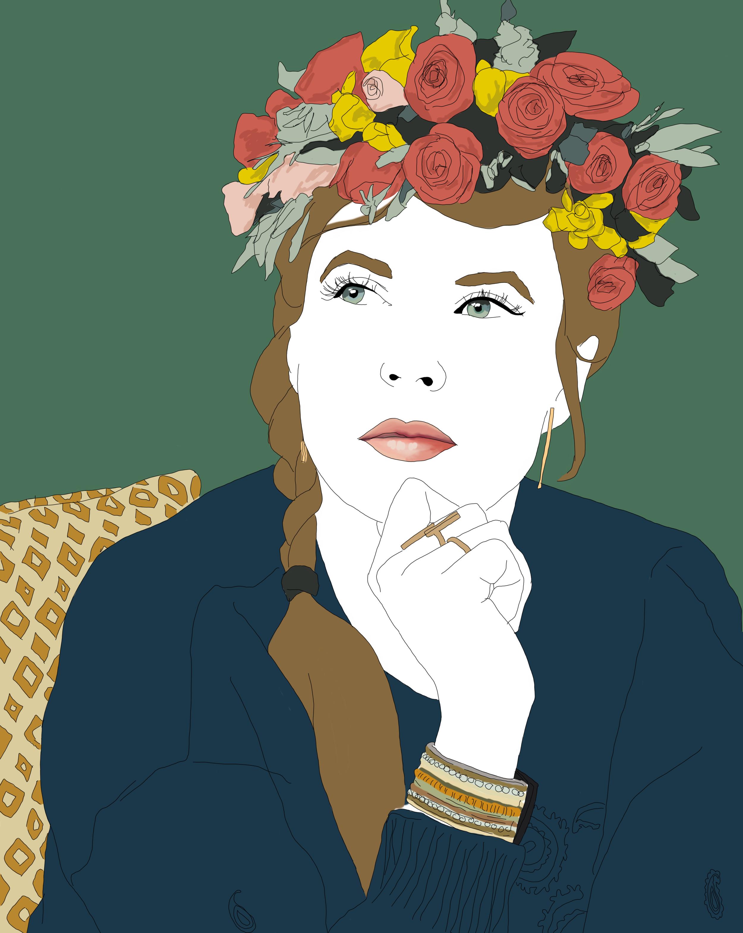 """Autoportrait """"souvenir du goût de la liberté"""" - mars 2019"""